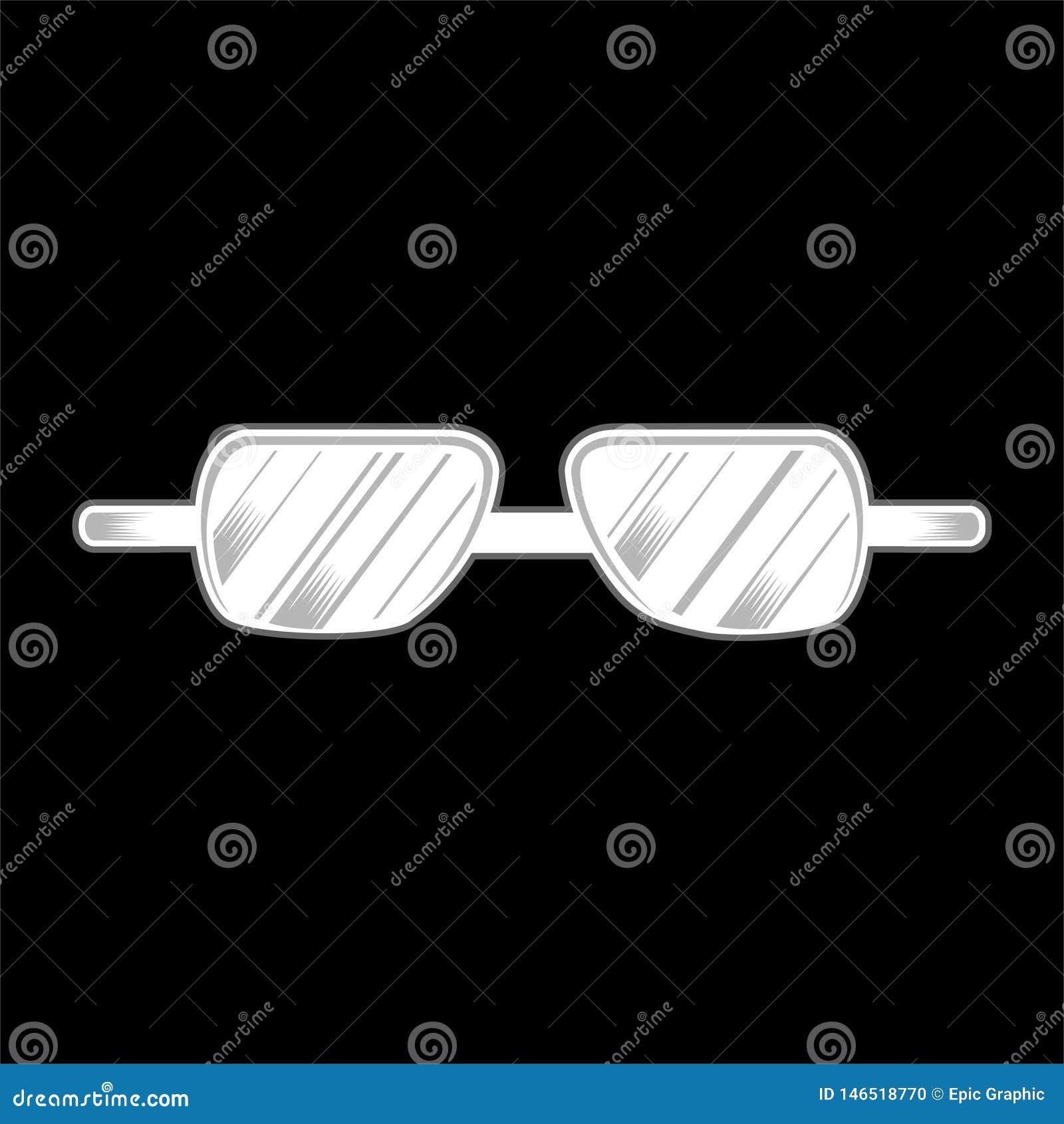 Vetor isolado vidros do desenho da m?o