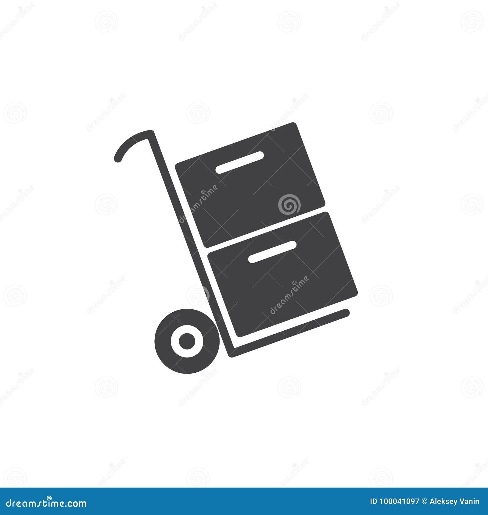 Vetor levando do ícone das caixas do trole