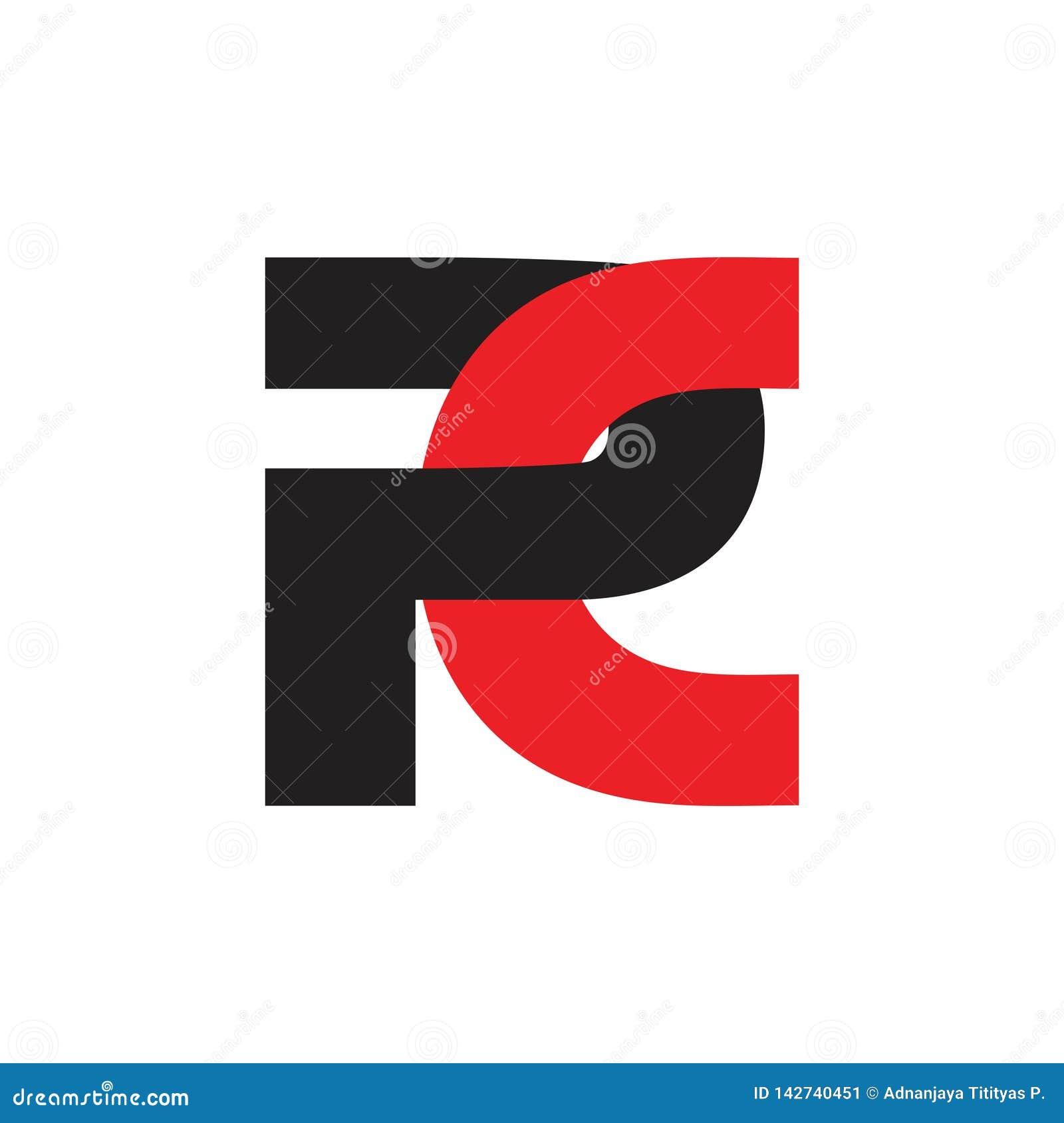 Vetor ligado simples do logotipo do PC abstrato das letras
