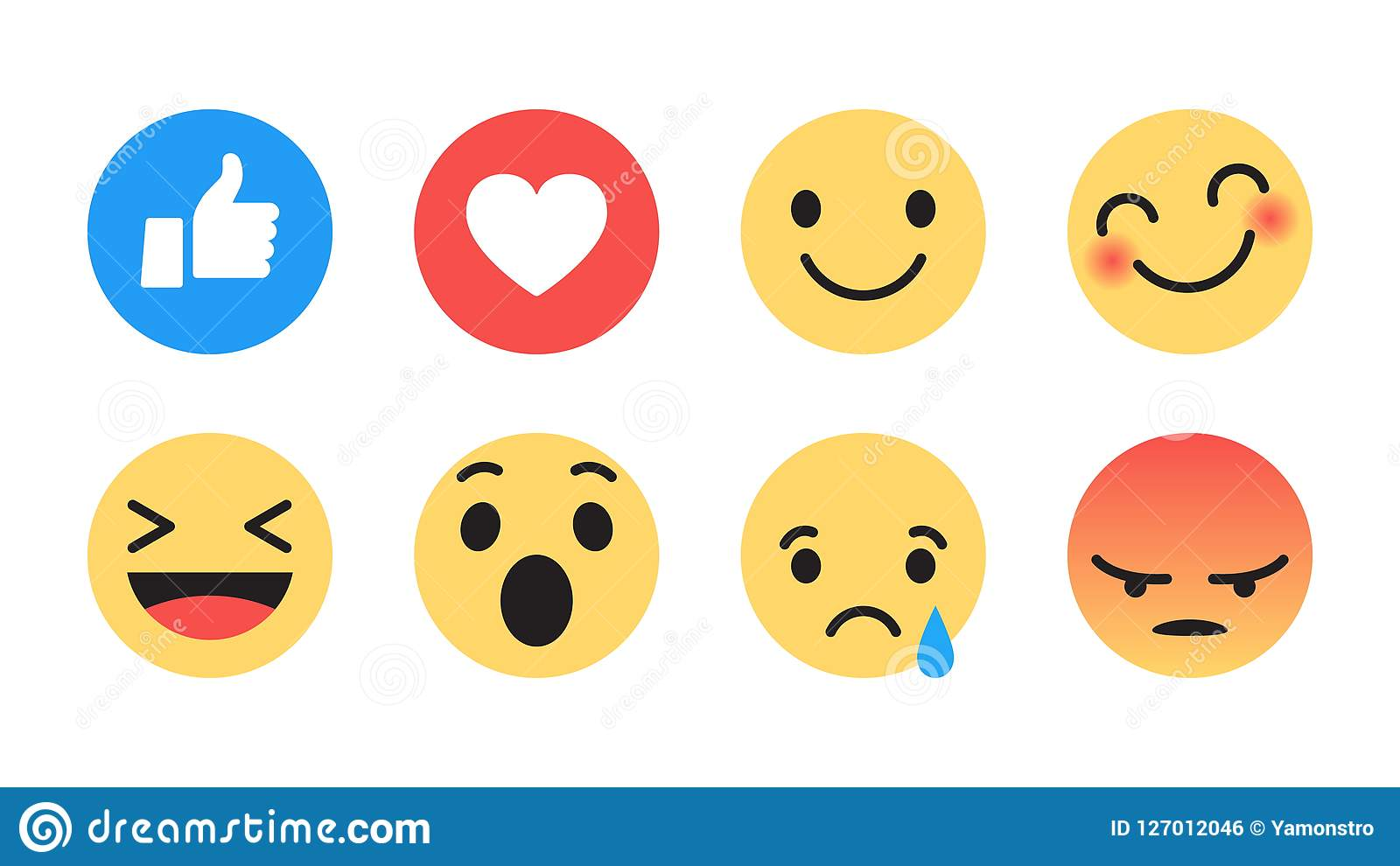 Vetor liso Emoji moderno do projeto
