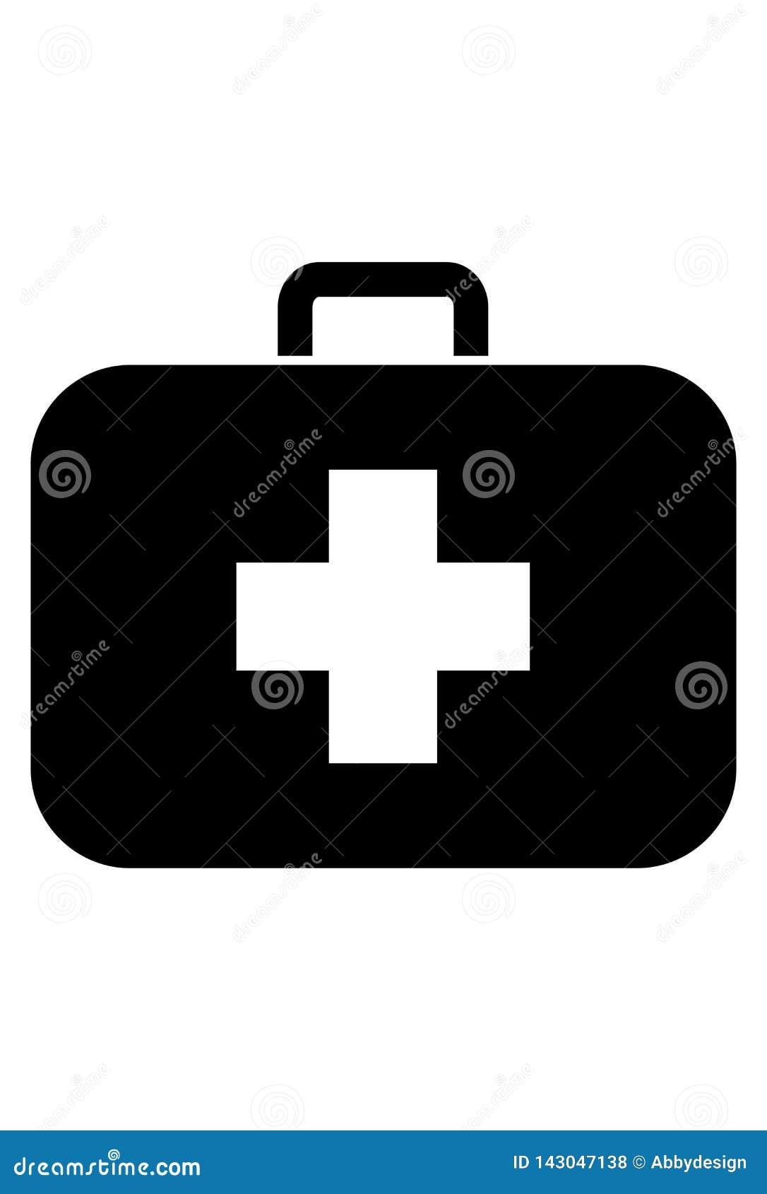 Vetor médico do ícone do caso