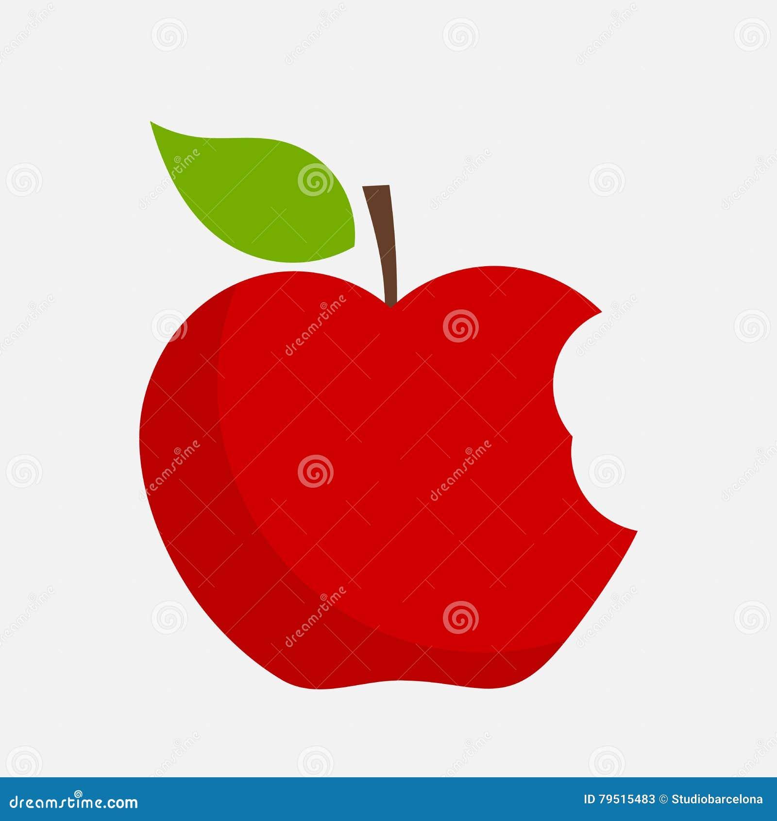 Vetor mordido da maçã