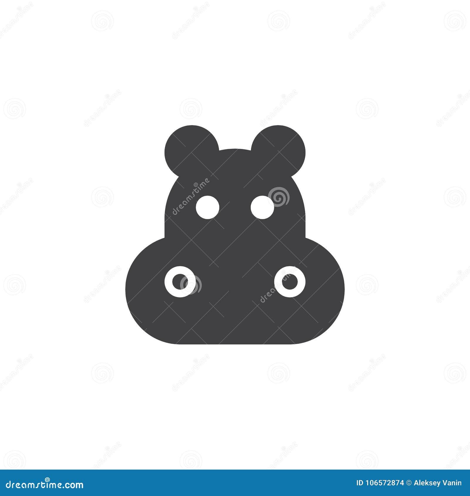 Vetor principal do ícone do hipopótamo