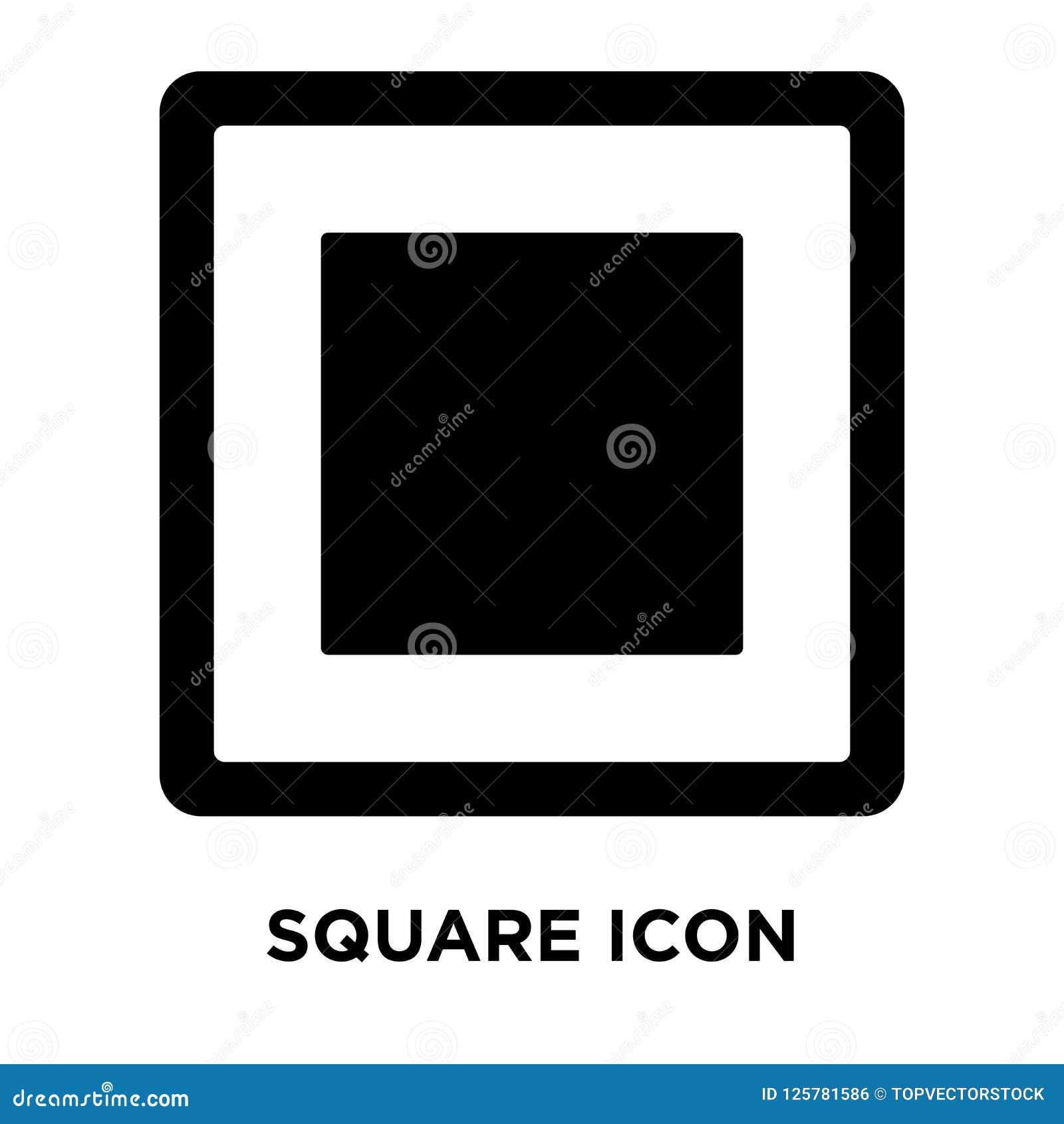 Vetor quadrado do ícone isolado no fundo branco, conceito do logotipo de