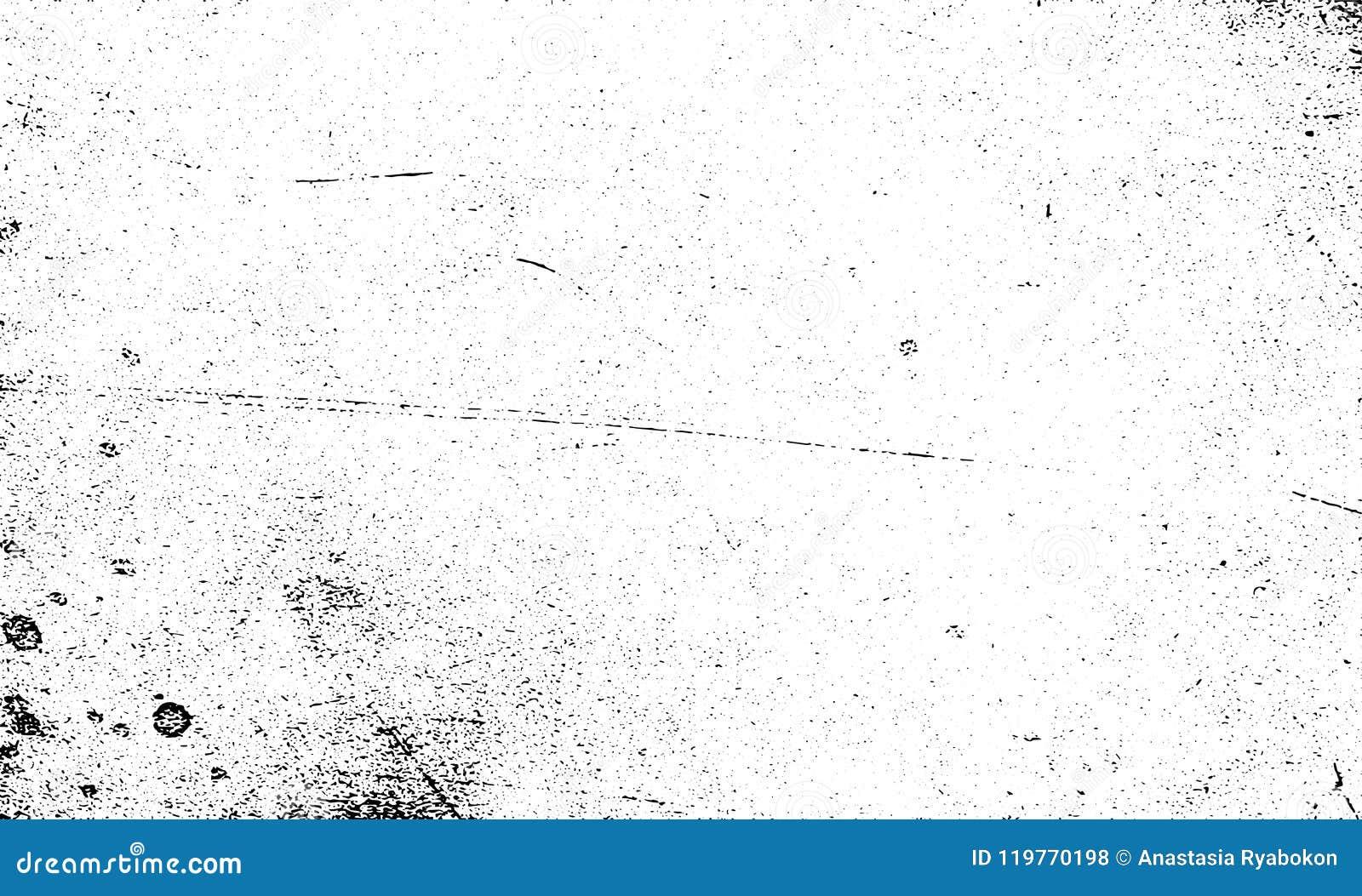 Vetor riscado grão da textura do Grunge preto e branco