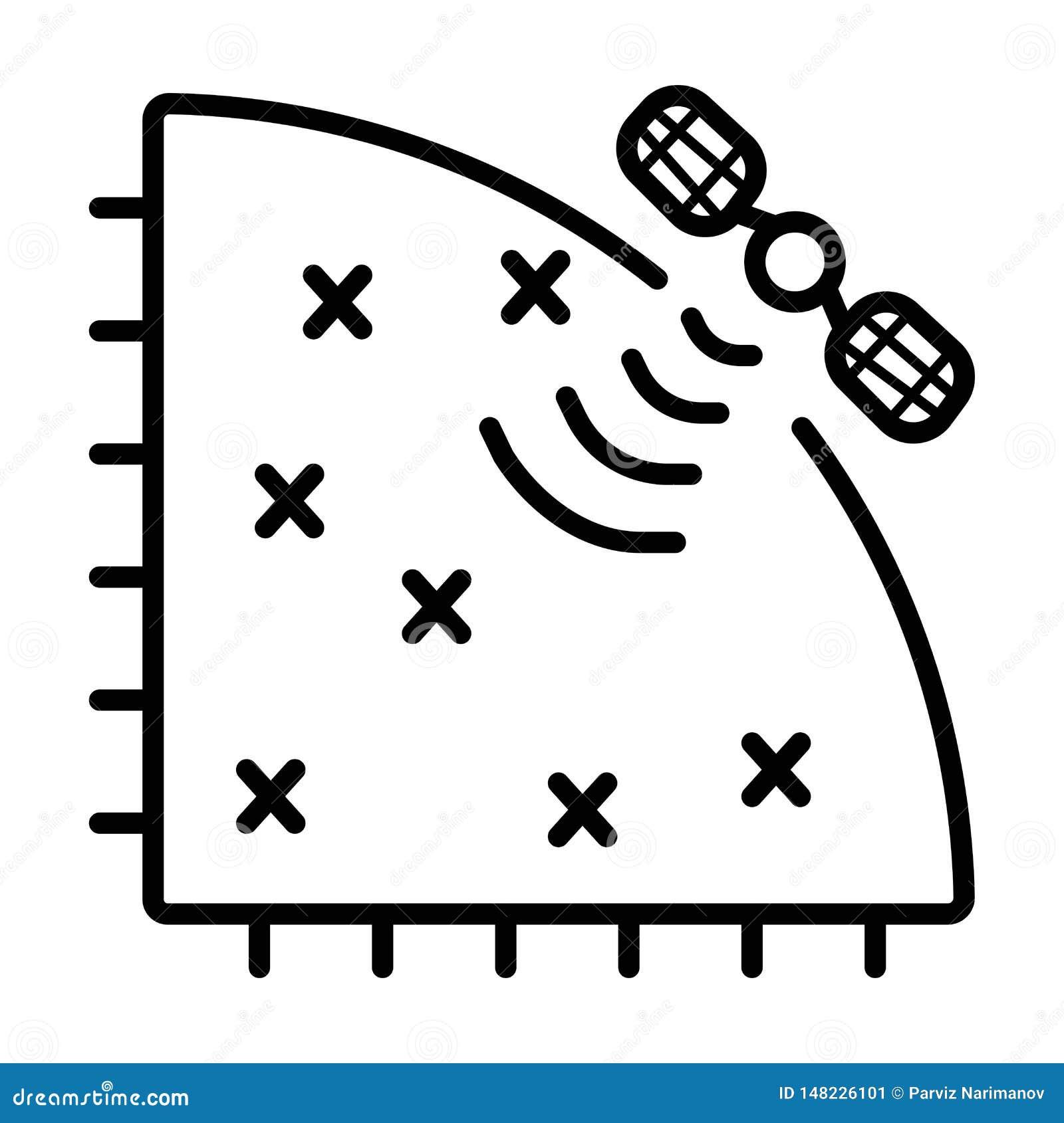Vetor satélite do ícone