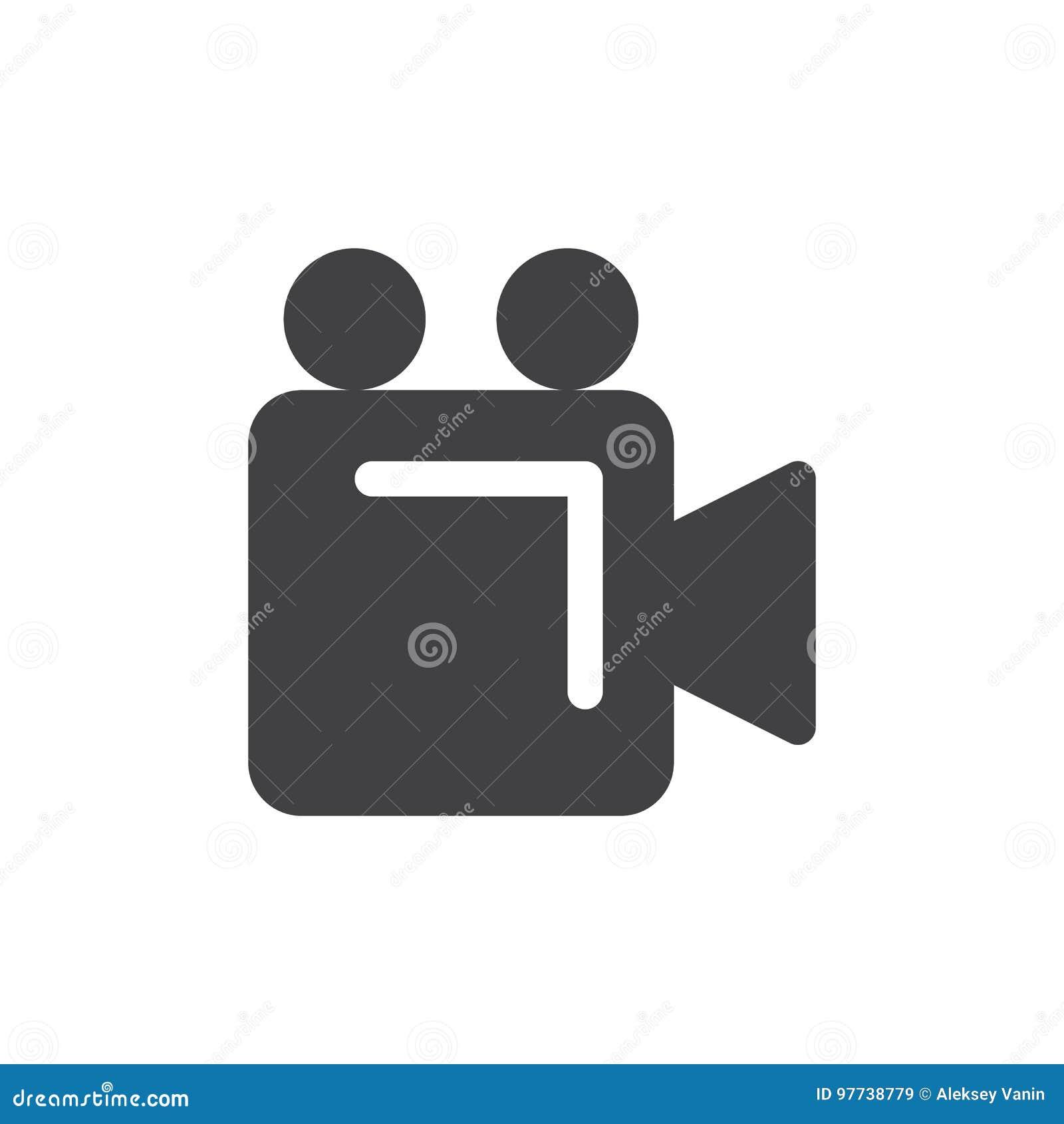 Vetor simples do ícone da câmara de vídeo