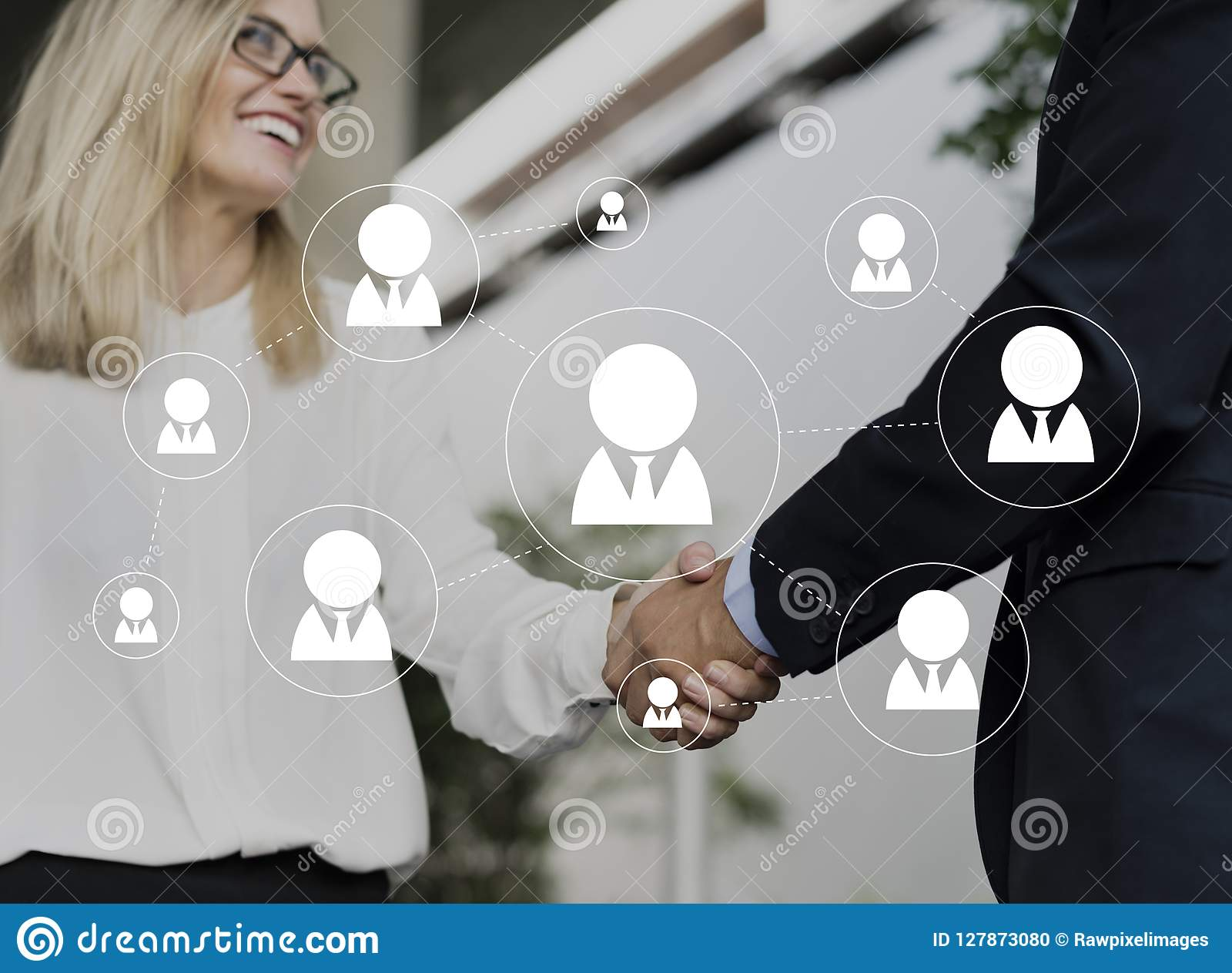 Vetor social do ícone do Avatar da conexão de rede