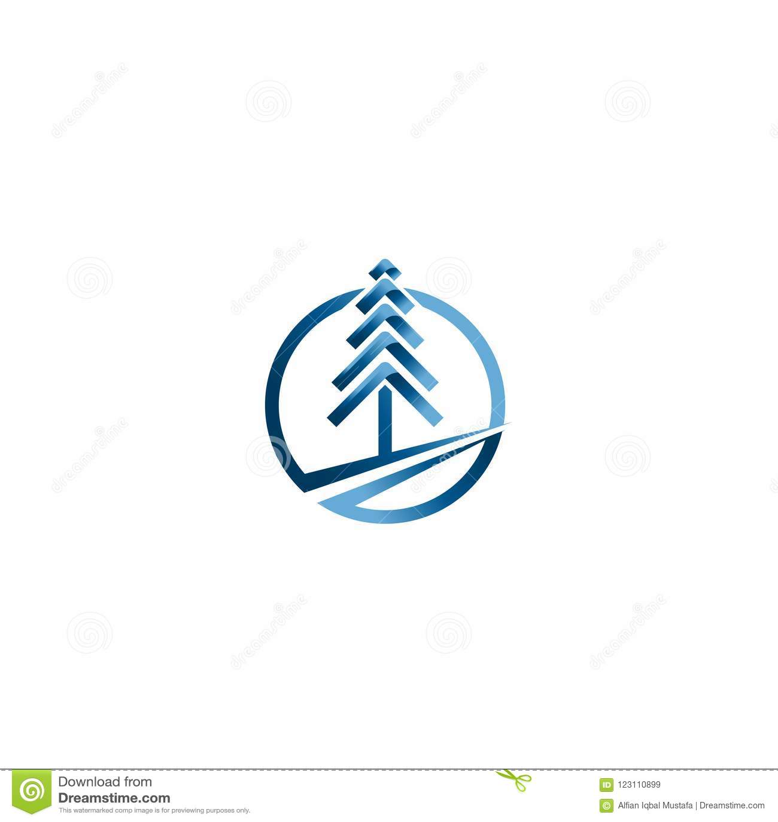 Vetores da árvore de Natal Molde criativo do vetor do projeto do logotipo do Natal Ideia do logotipo da árvore da tecnologia