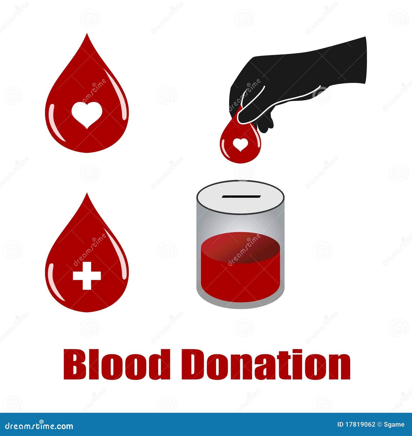 Vetores da doação de sangue