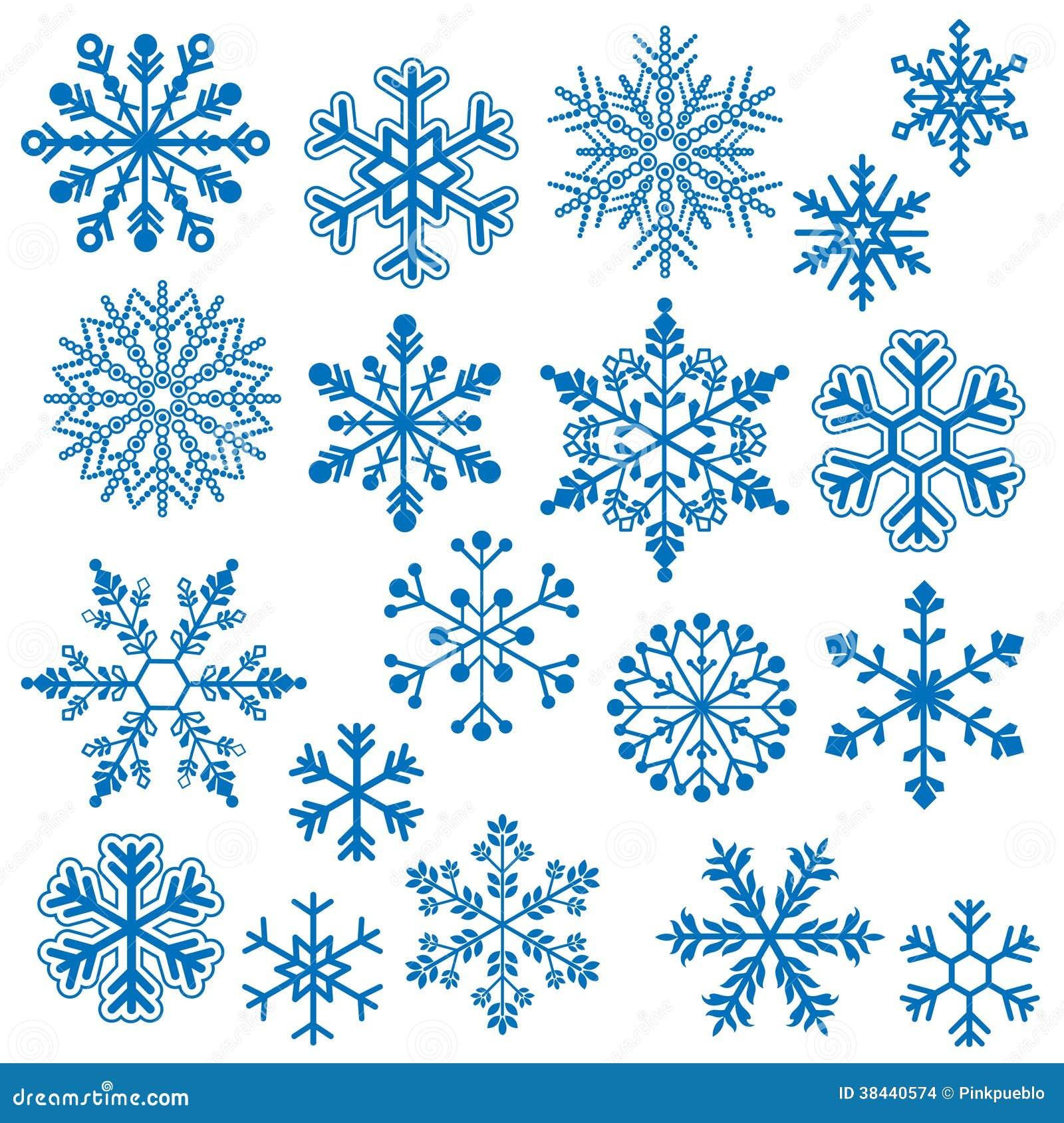 Vetores do floco de neve