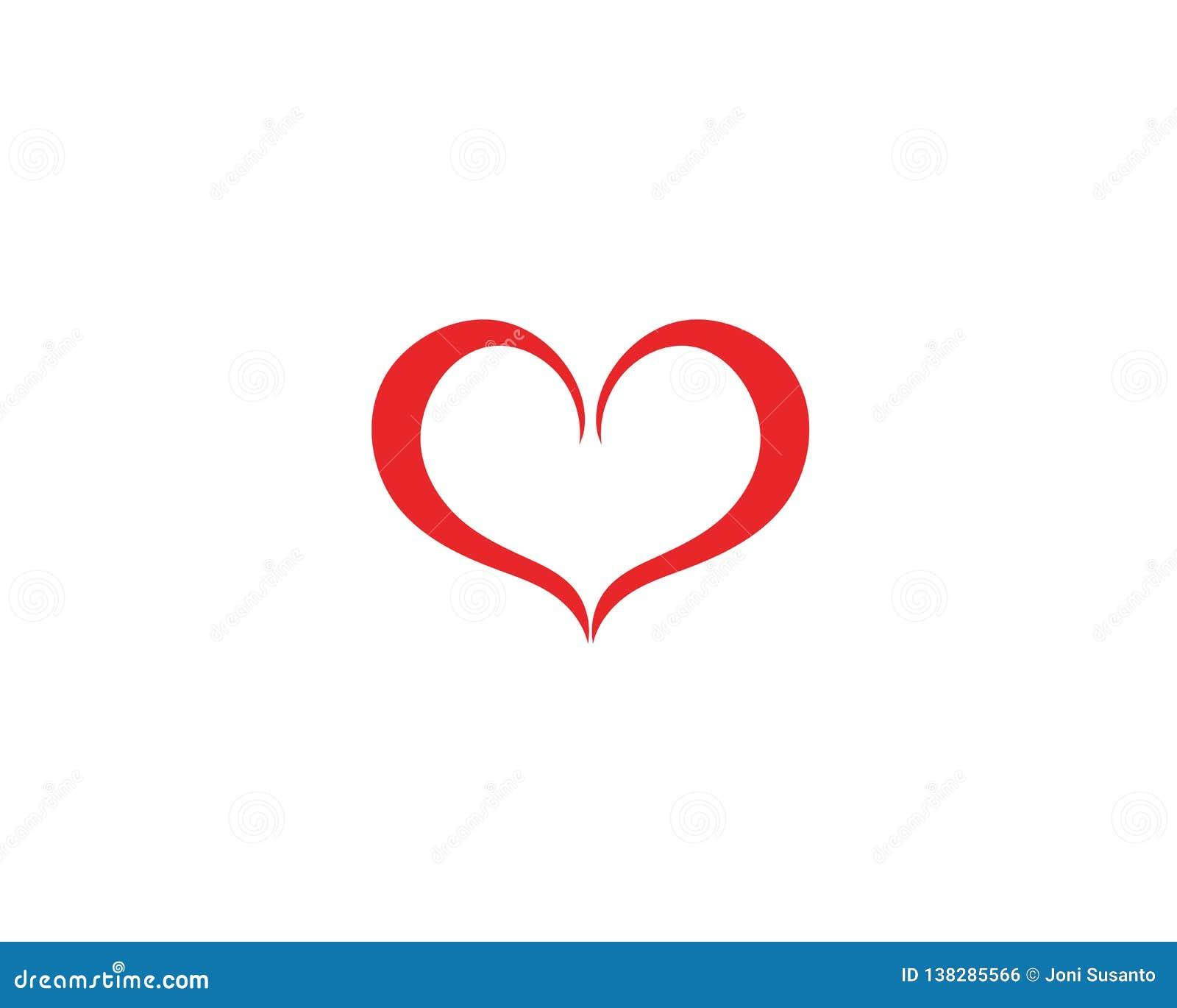 Vetores do logotipo do coração do amor