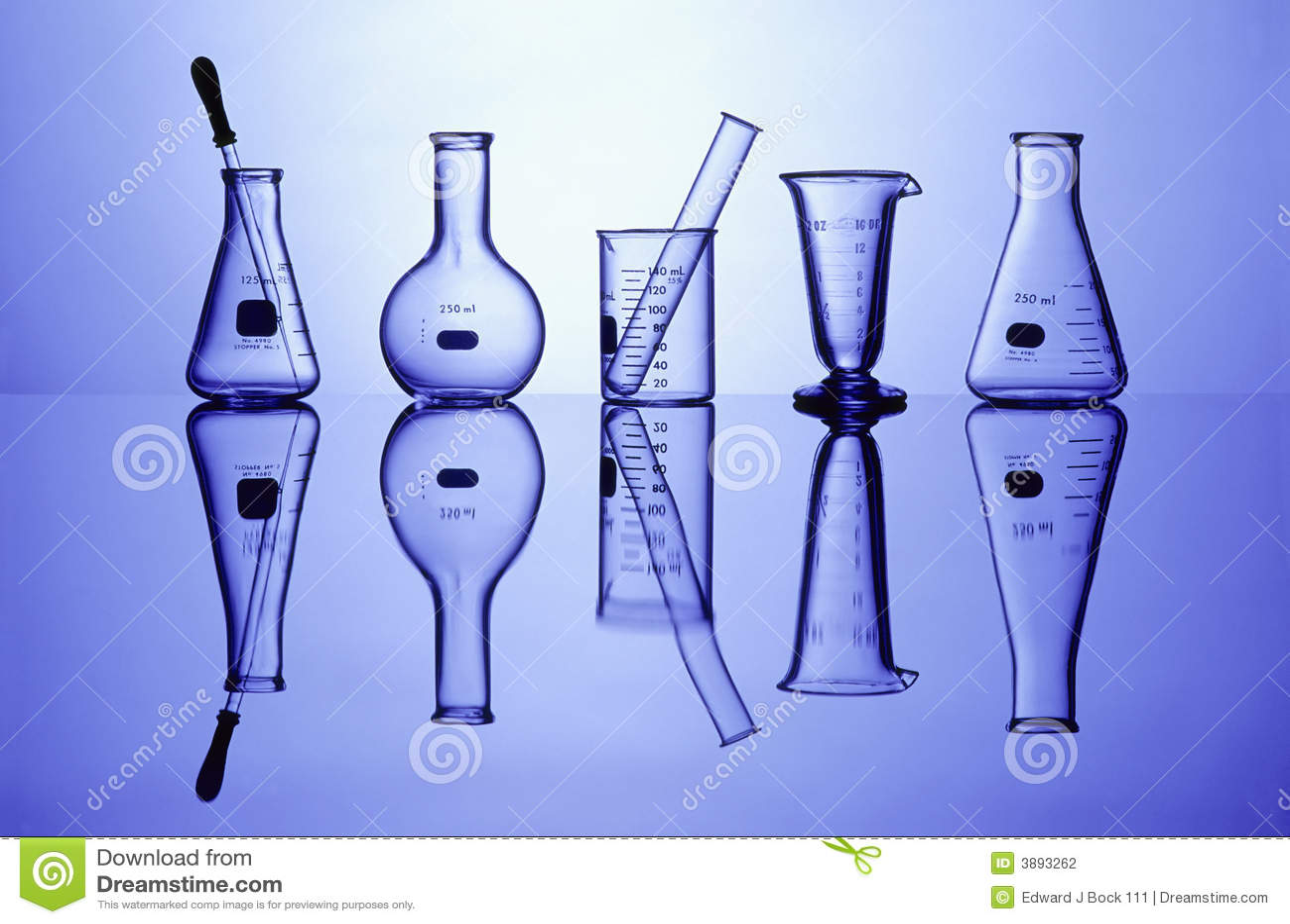 Vetreria per laboratorio sull azzurro