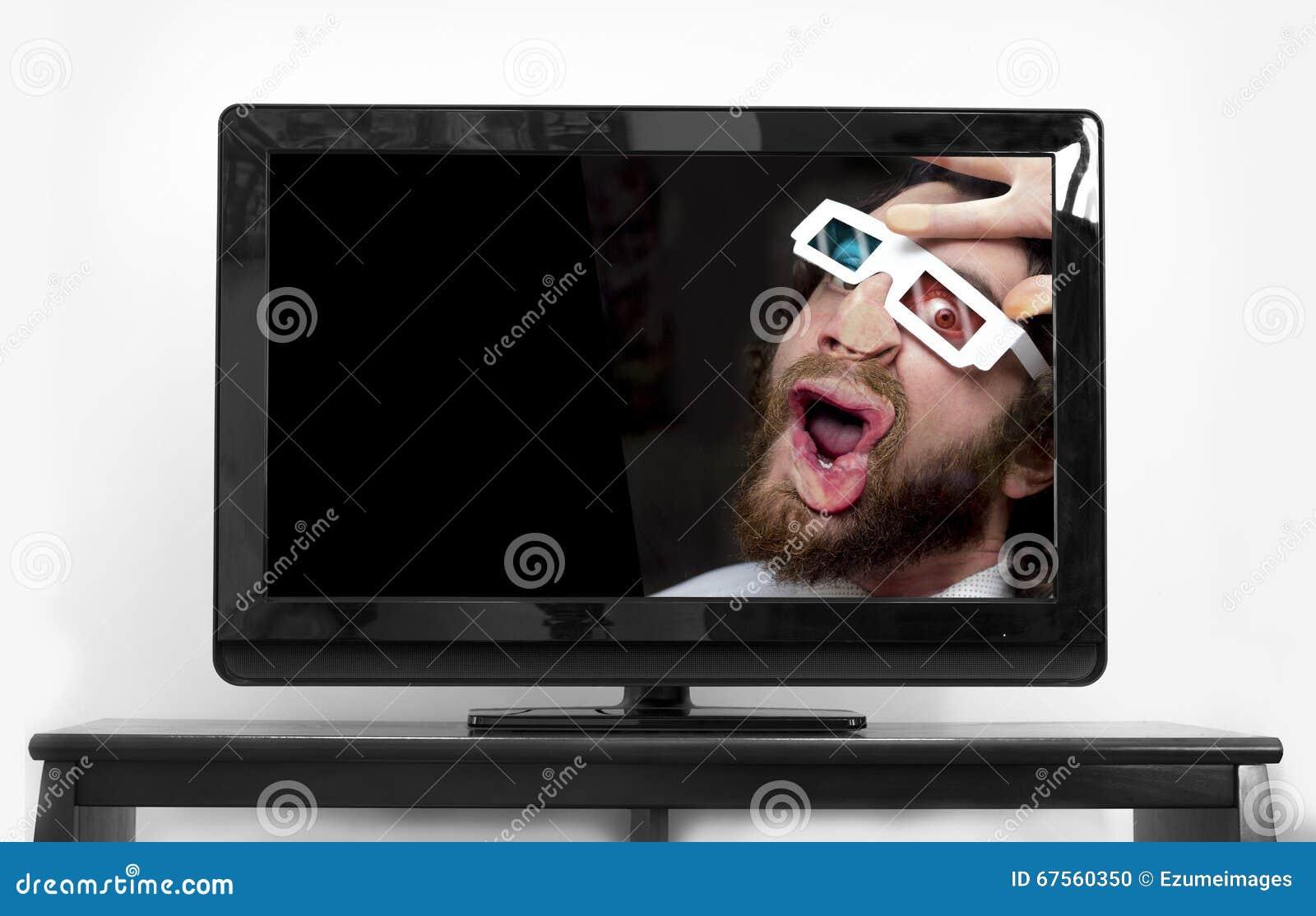 Vetri barbuti dell uomo 3D