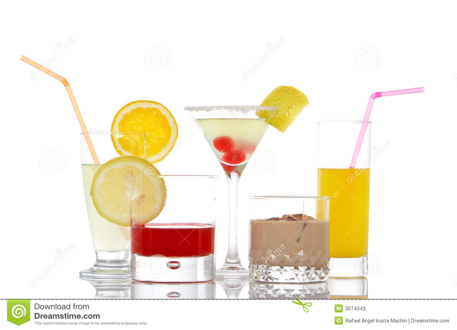 Vetri con le bevande
