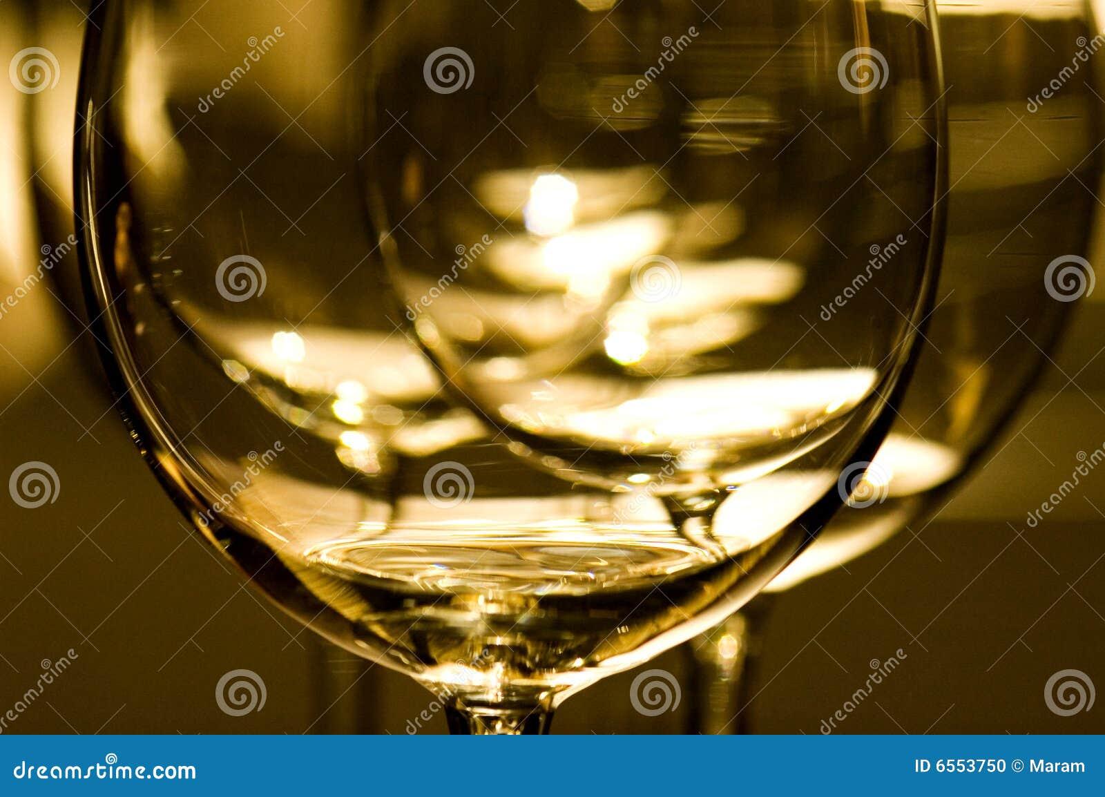 Vetri del vino rosso