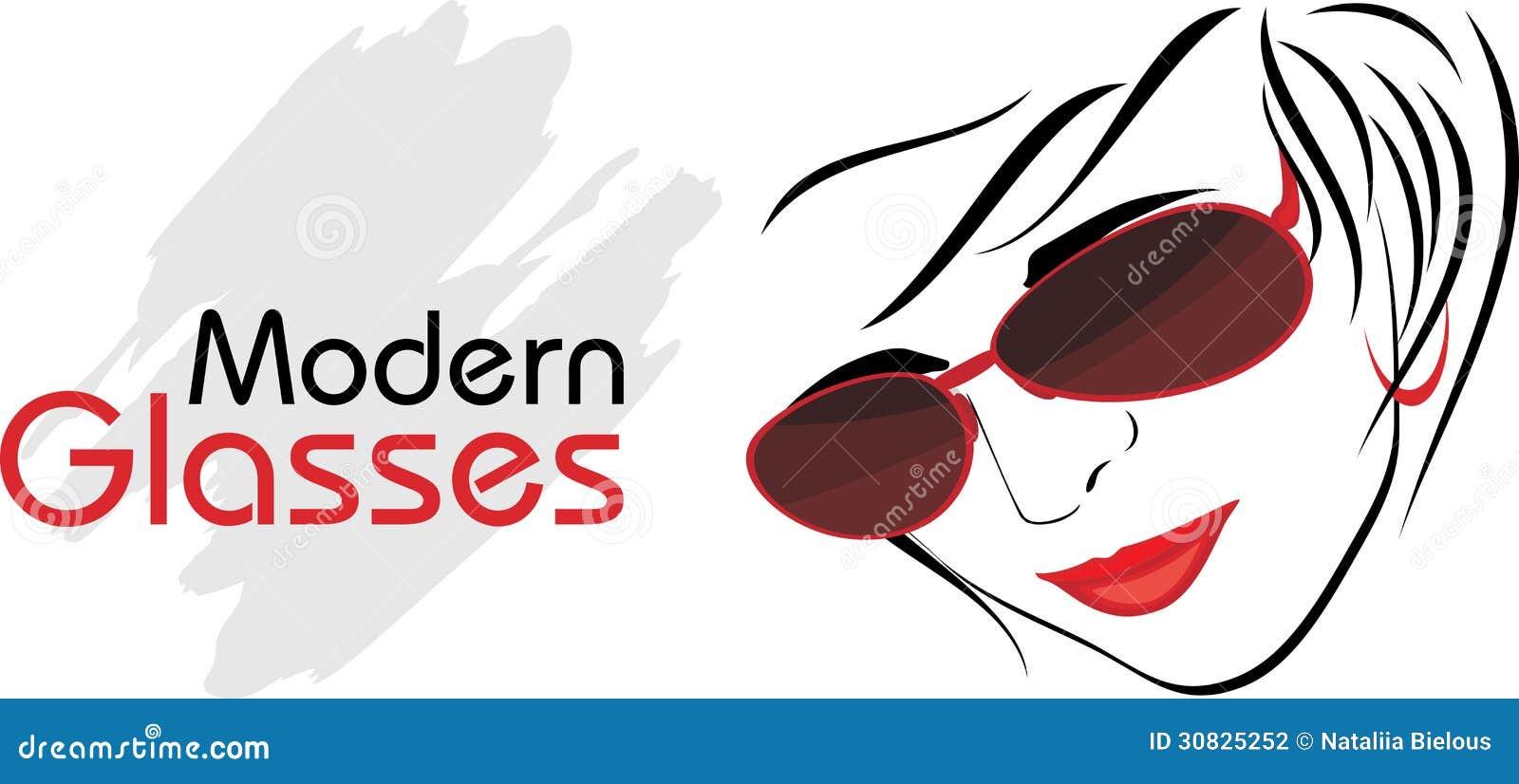 Vetri moderni alla moda. Icona per progettazione