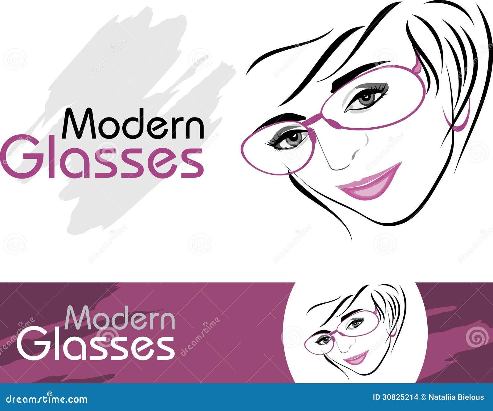 Vetri moderni alla moda. Icone per progettazione
