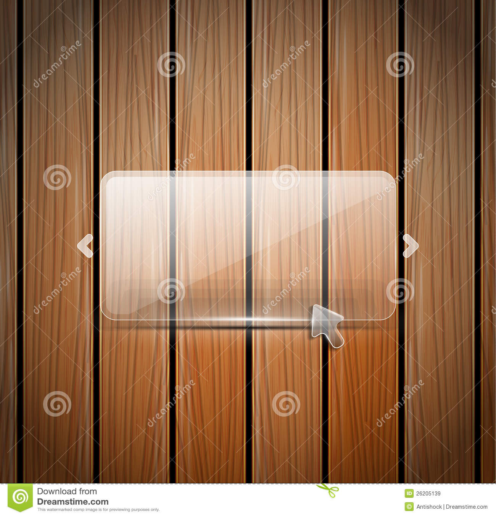 Vetro di vettore e parete di legno immagini stock libere - Parete di legno ...