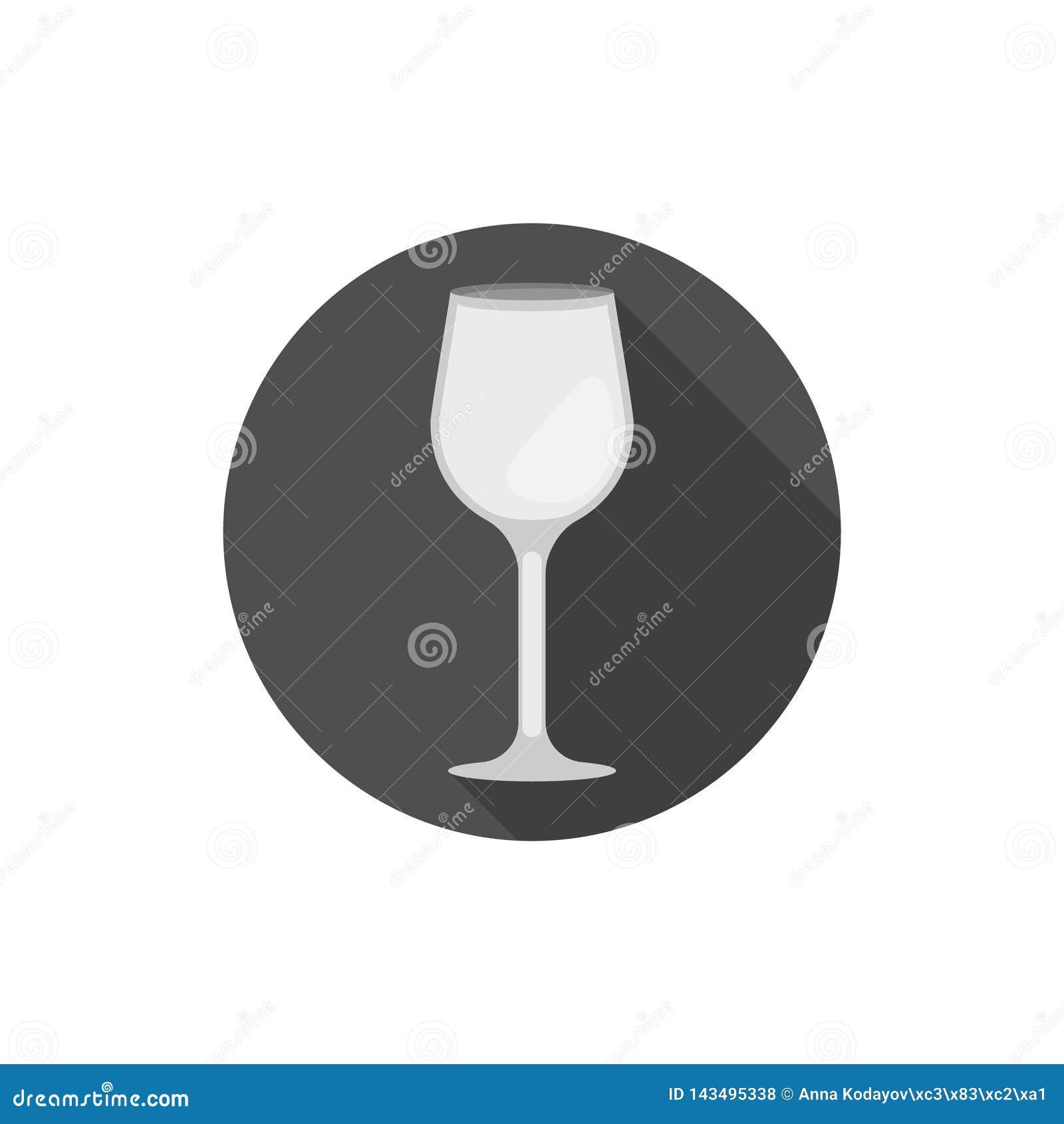 Vetro di vino piano dello Zinfandel di progettazione