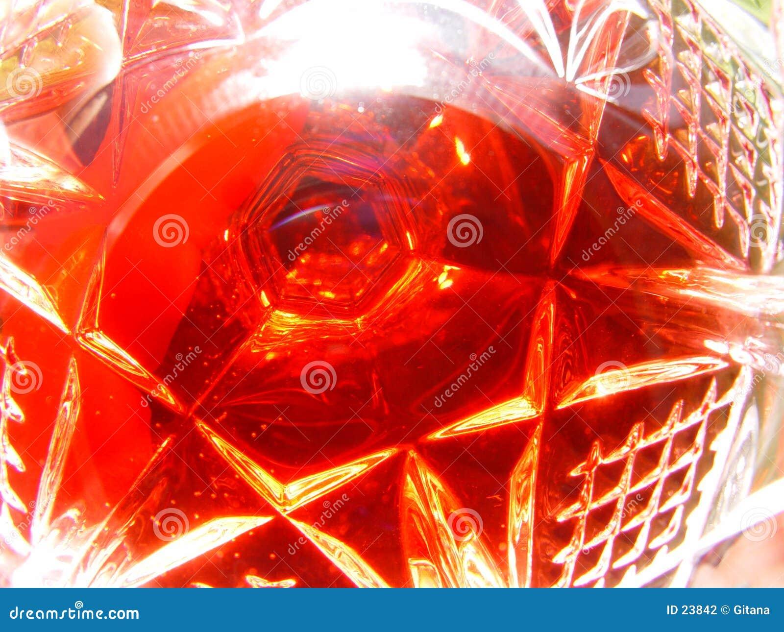 Vetro di vino rosso