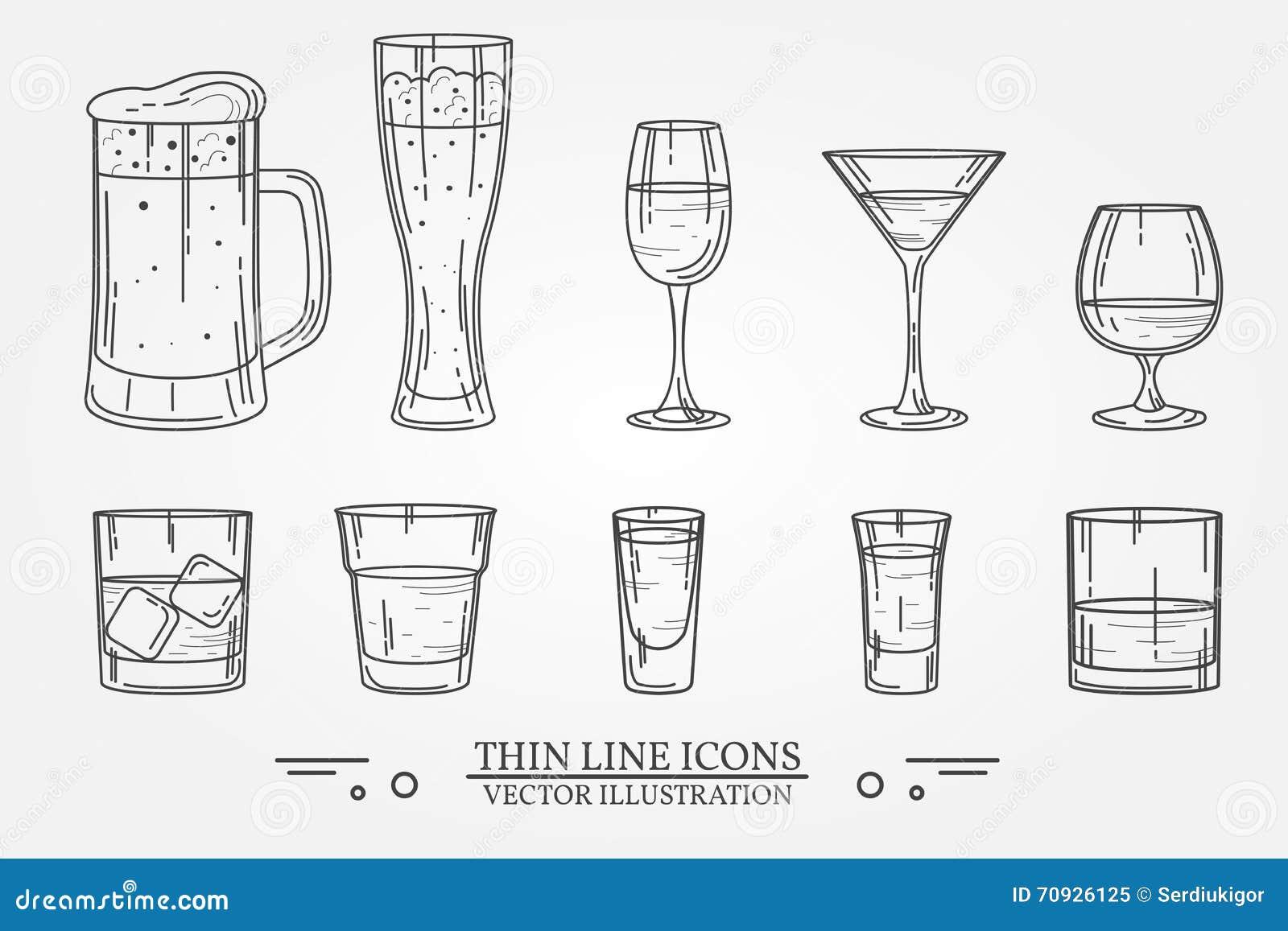 Vetro stabilito dell alcool della bevanda per birra, whiskey, vino, tequila, cognac, champagne, brandy, cocktail, liquore Isola d
