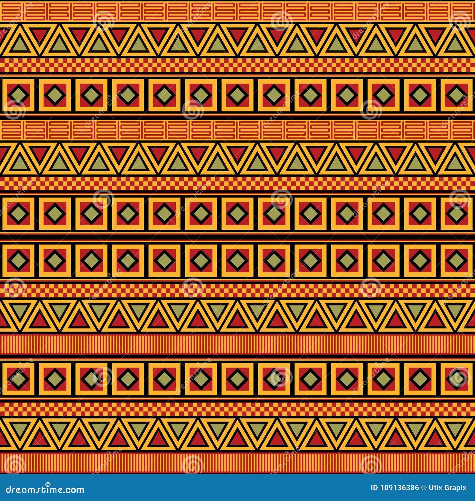 Vettore africano del modello