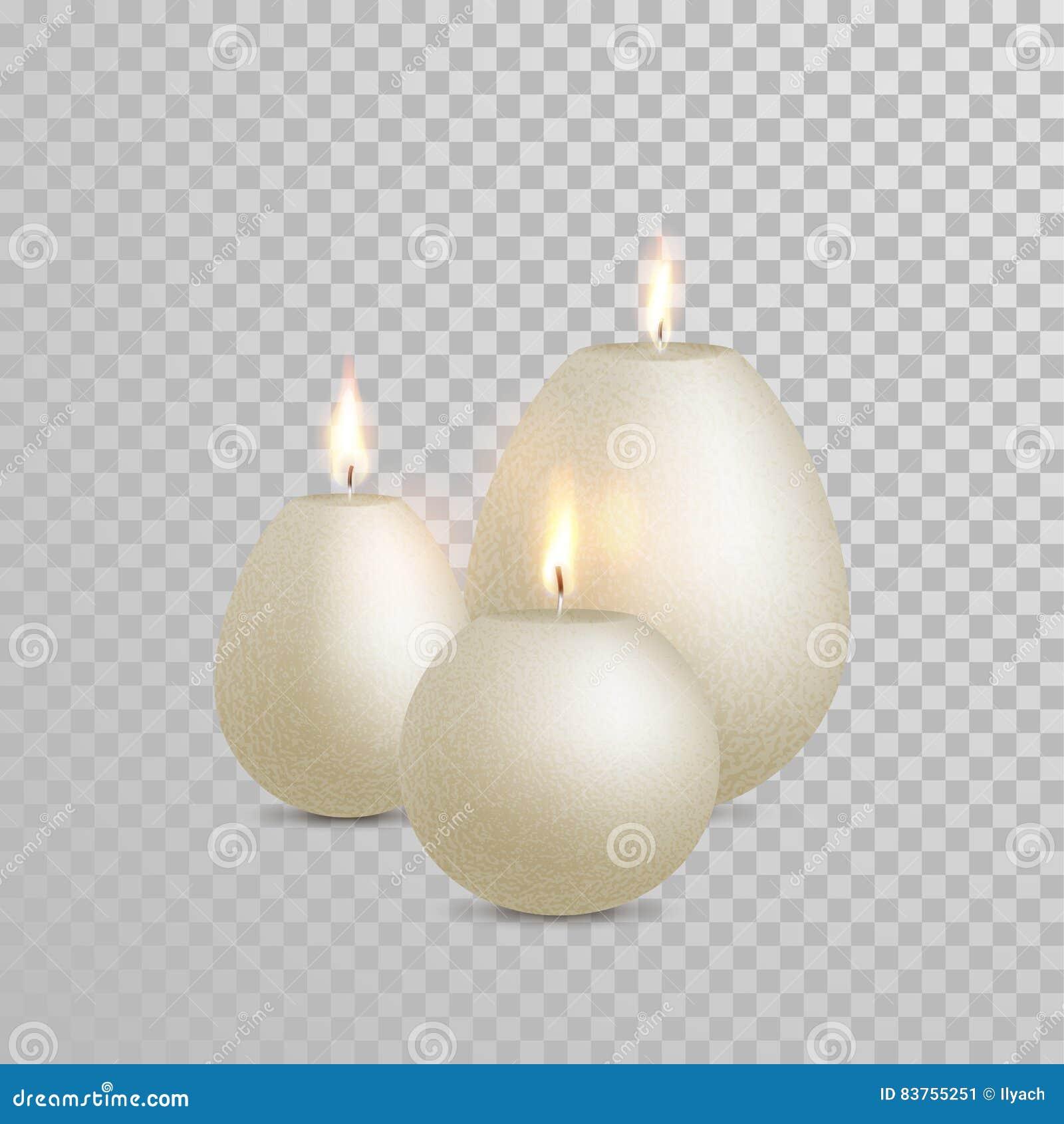 Il Colore Delle Candele.Vettore Bianco Di Colore Della Perla Della Candela