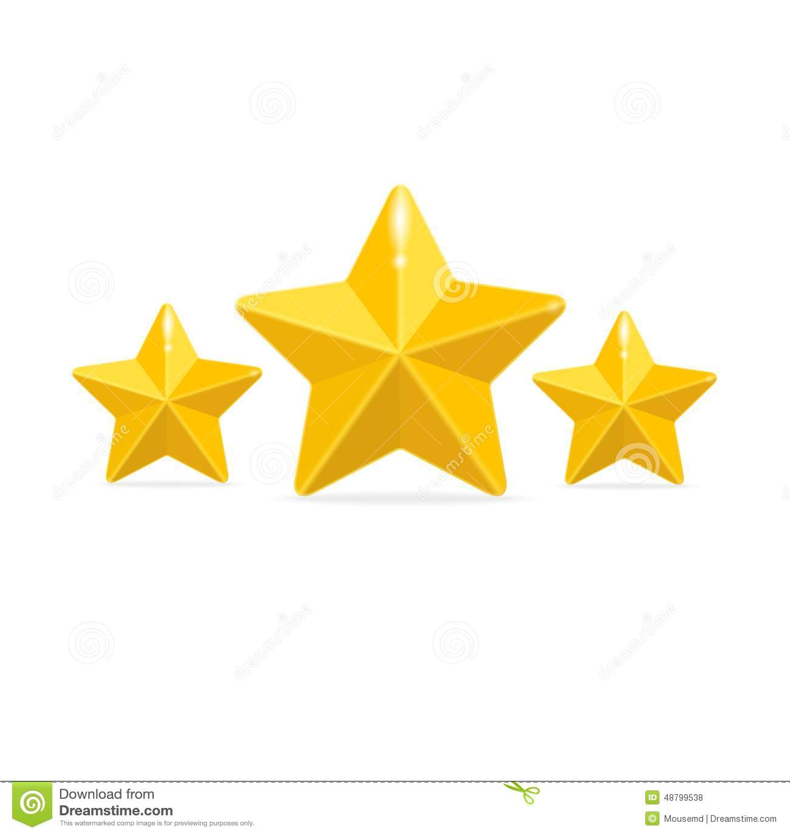 Vettore che valuta un concetto di tre stelle sul nero for Tre stelle arreda bologna