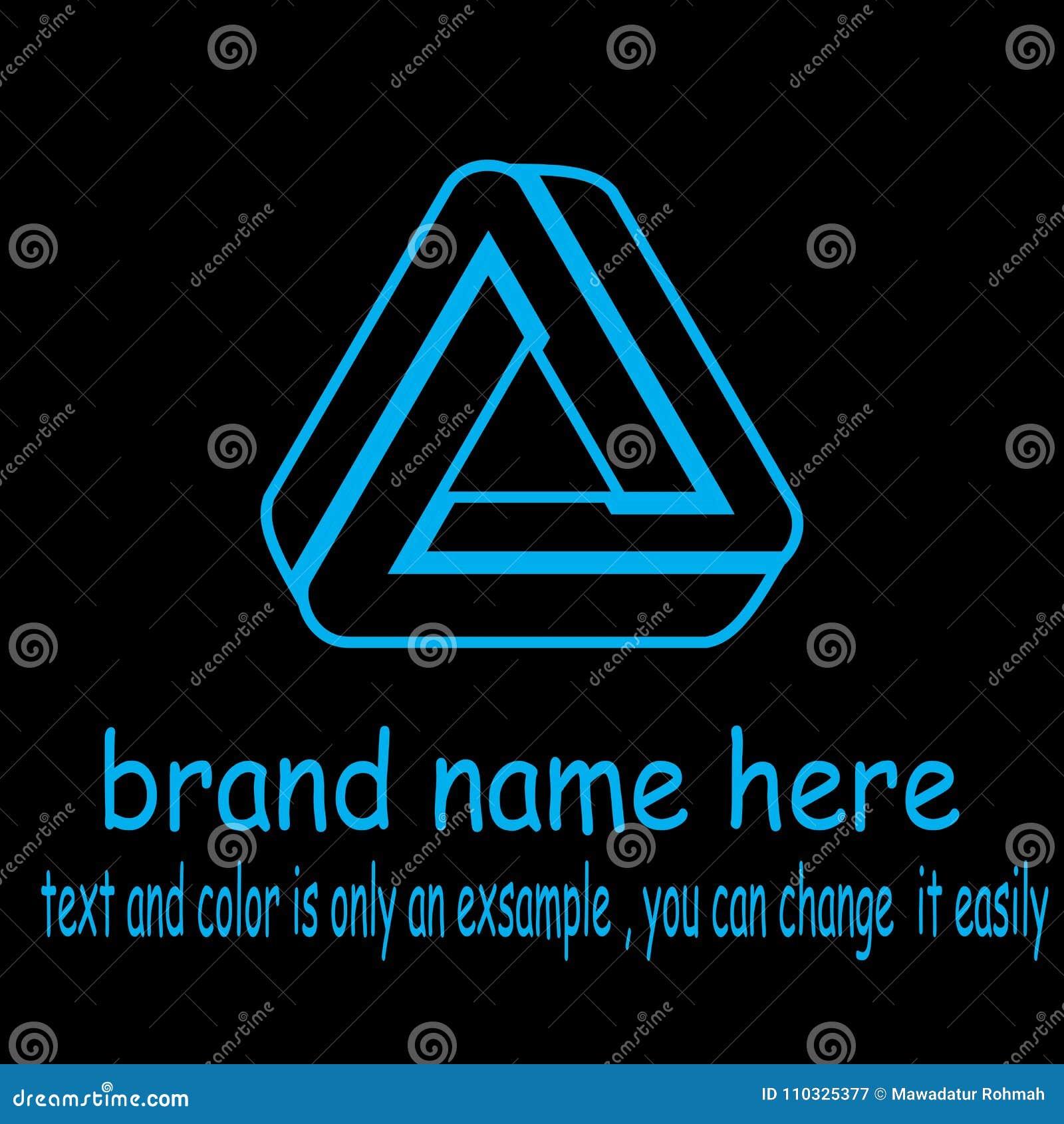 Vettore creativo di logo del triangel