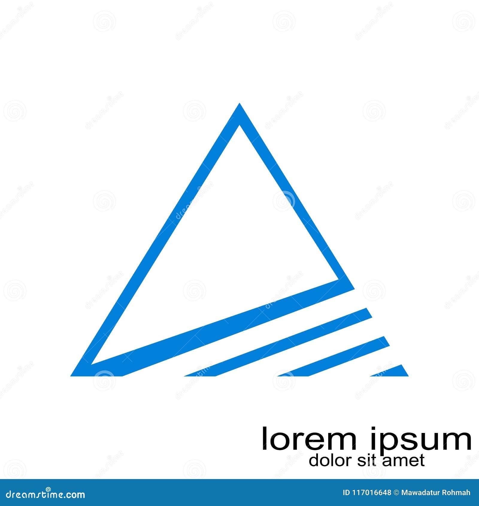 Vettore creativo di logo del triangel di schema di campionamento