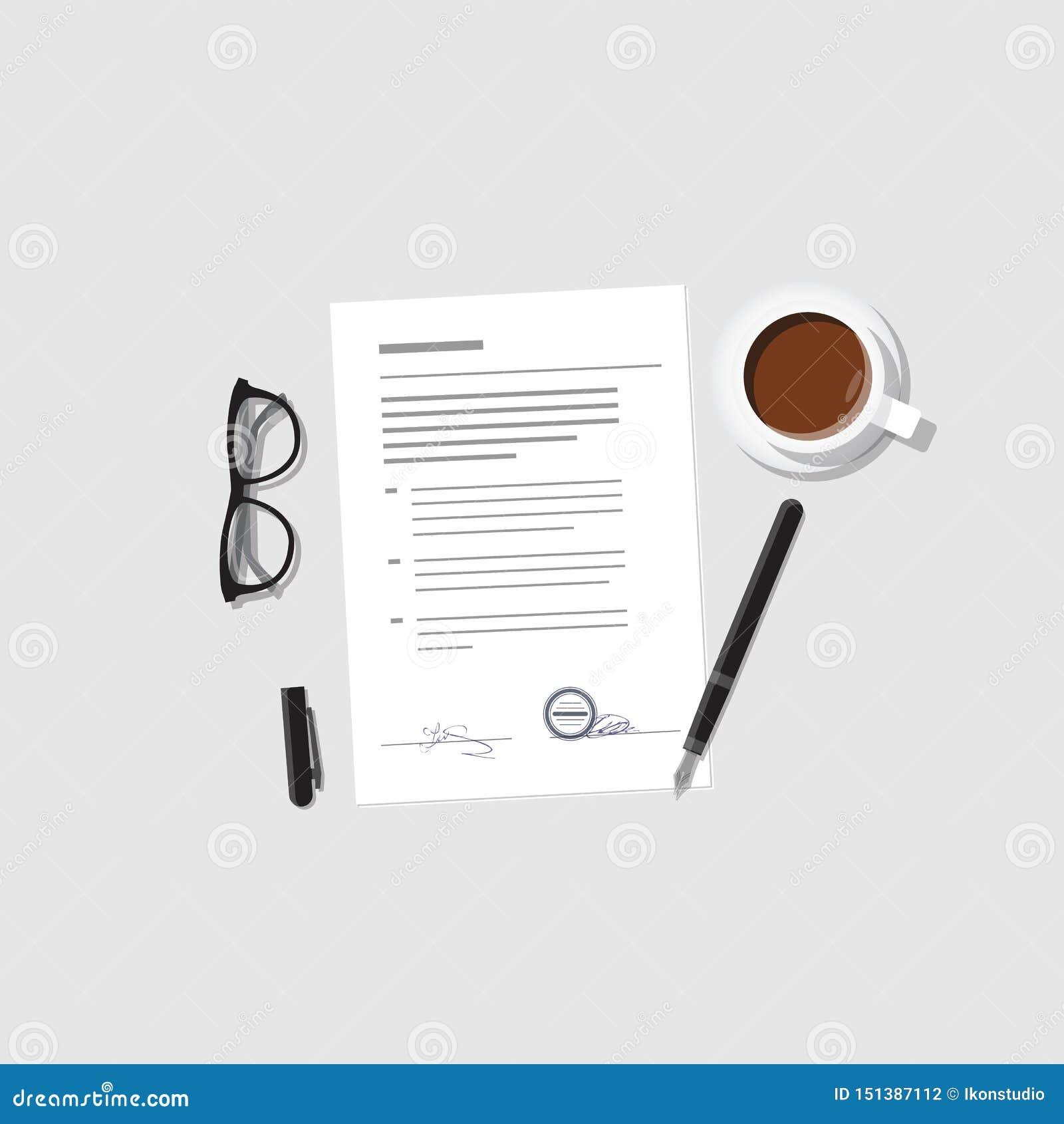 Vettore del contratto e di accordo