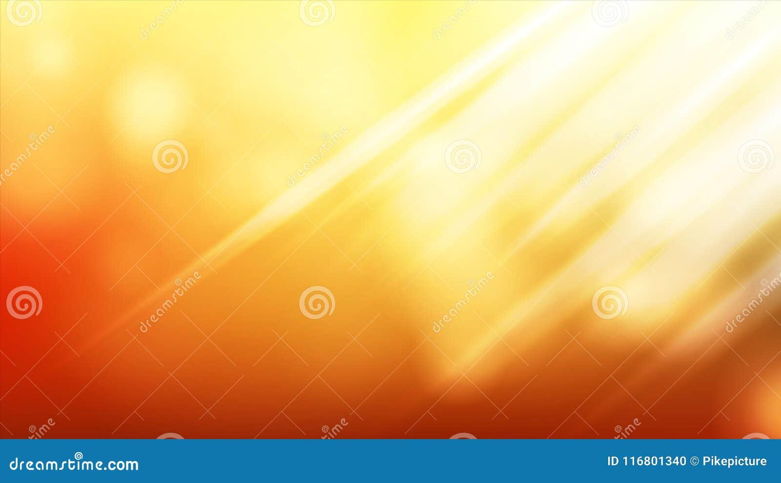 Vettore del fondo di luce solare Progettazione realistica della sfuocatura Chiarore molle Contesto del sole Illustrazione