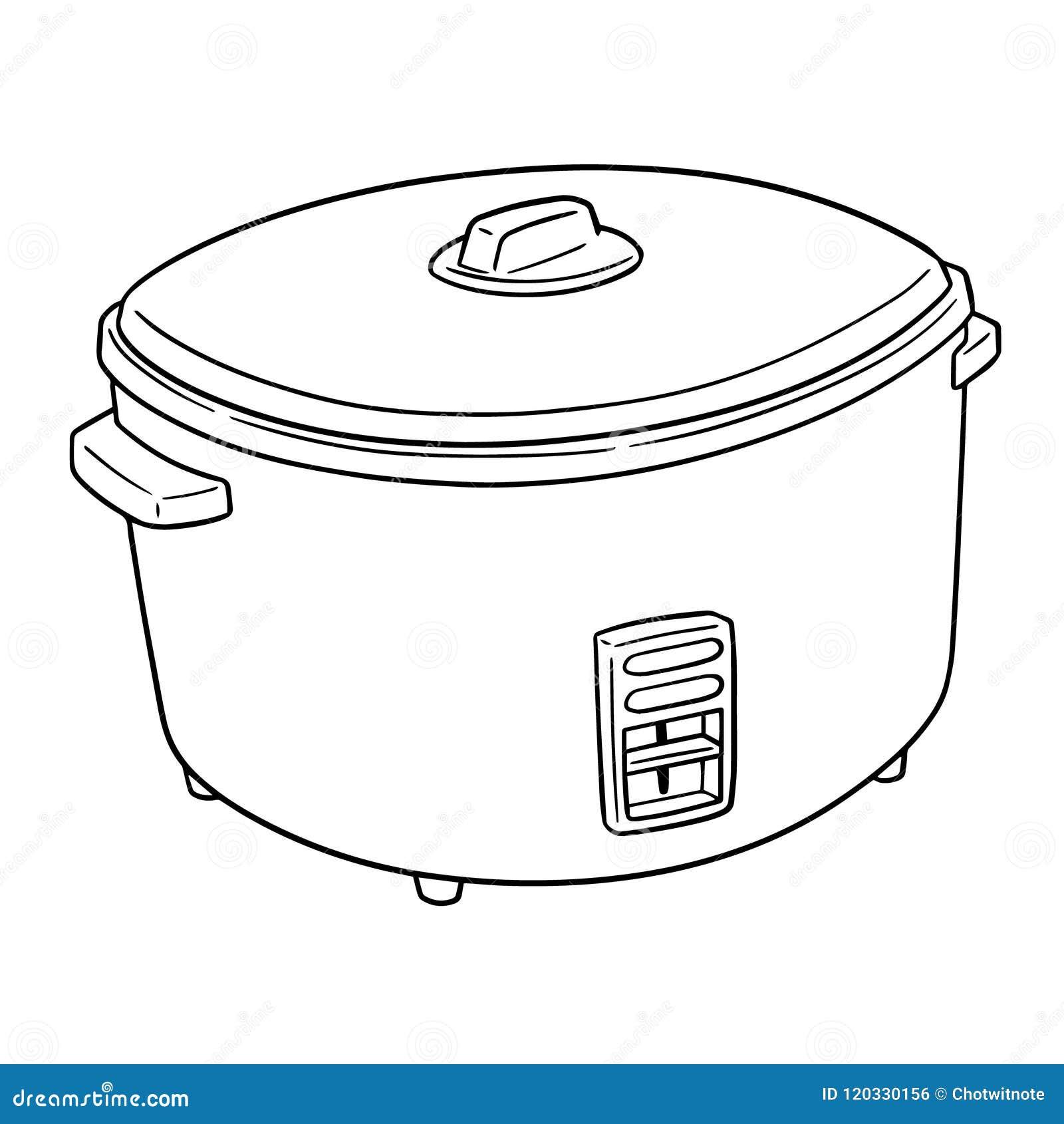 Vettore del fornello di riso