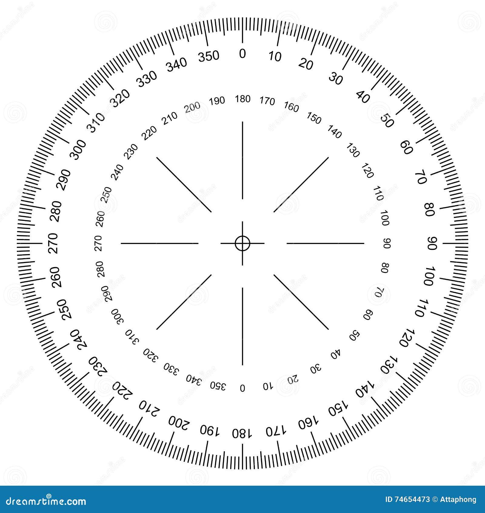 vettore del goniometro illustrazione vettoriale  immagine