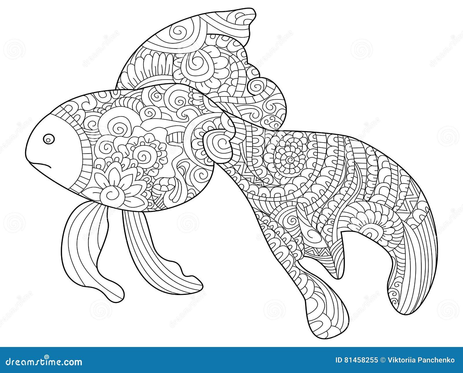 Pesce Rosso Da Colorare