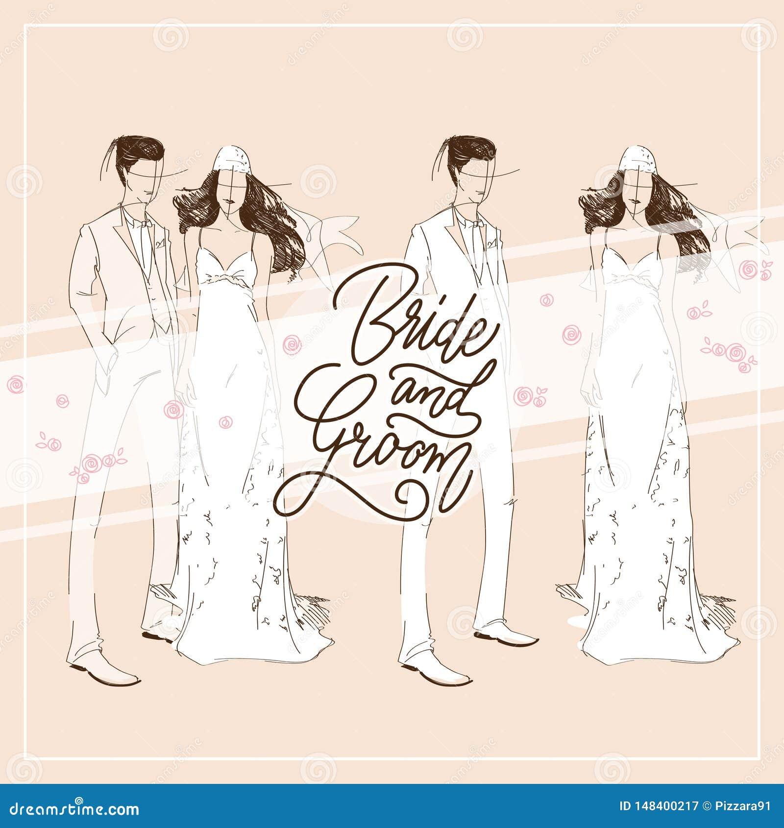 Vettore del modello della carta dell invito di nozze