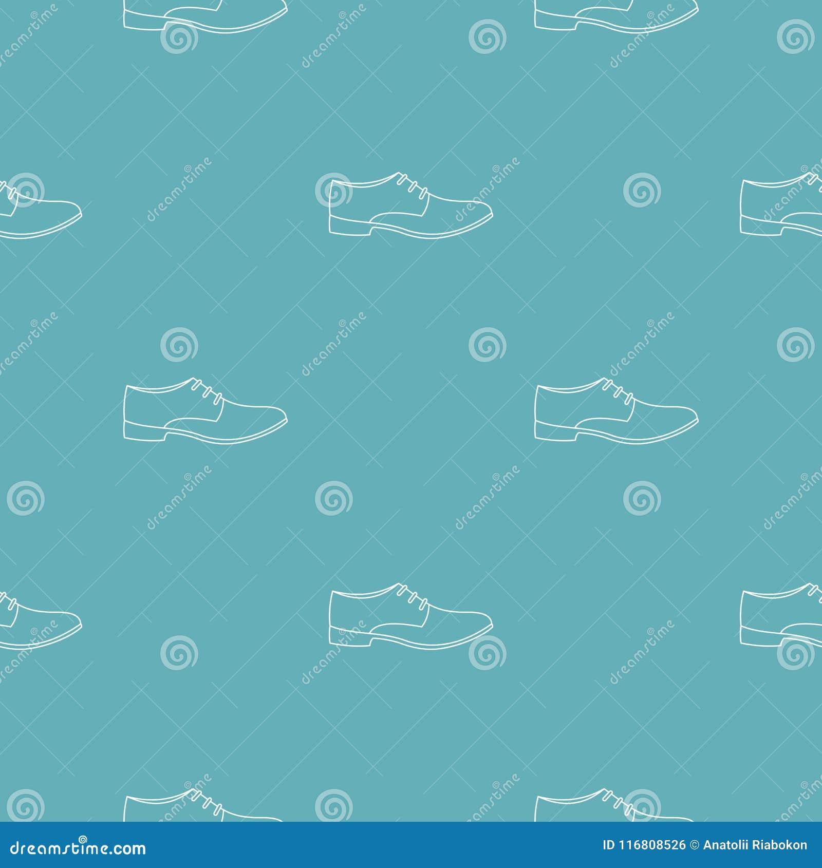 Vettore del modello della scarpa degli uomini senza cuciture