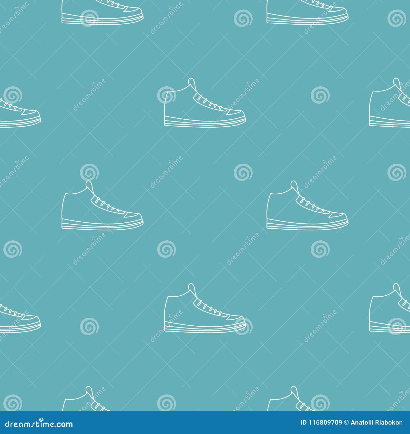 Vettore del modello delle scarpe da tennis senza cuciture