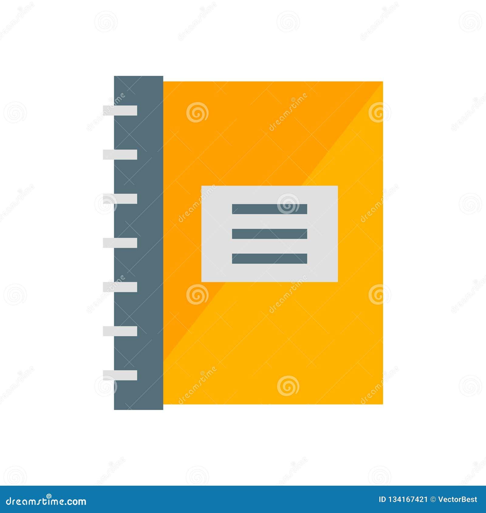Vettore dell icona del blocco note isolato su fondo bianco, segno del blocco note, simboli di industria