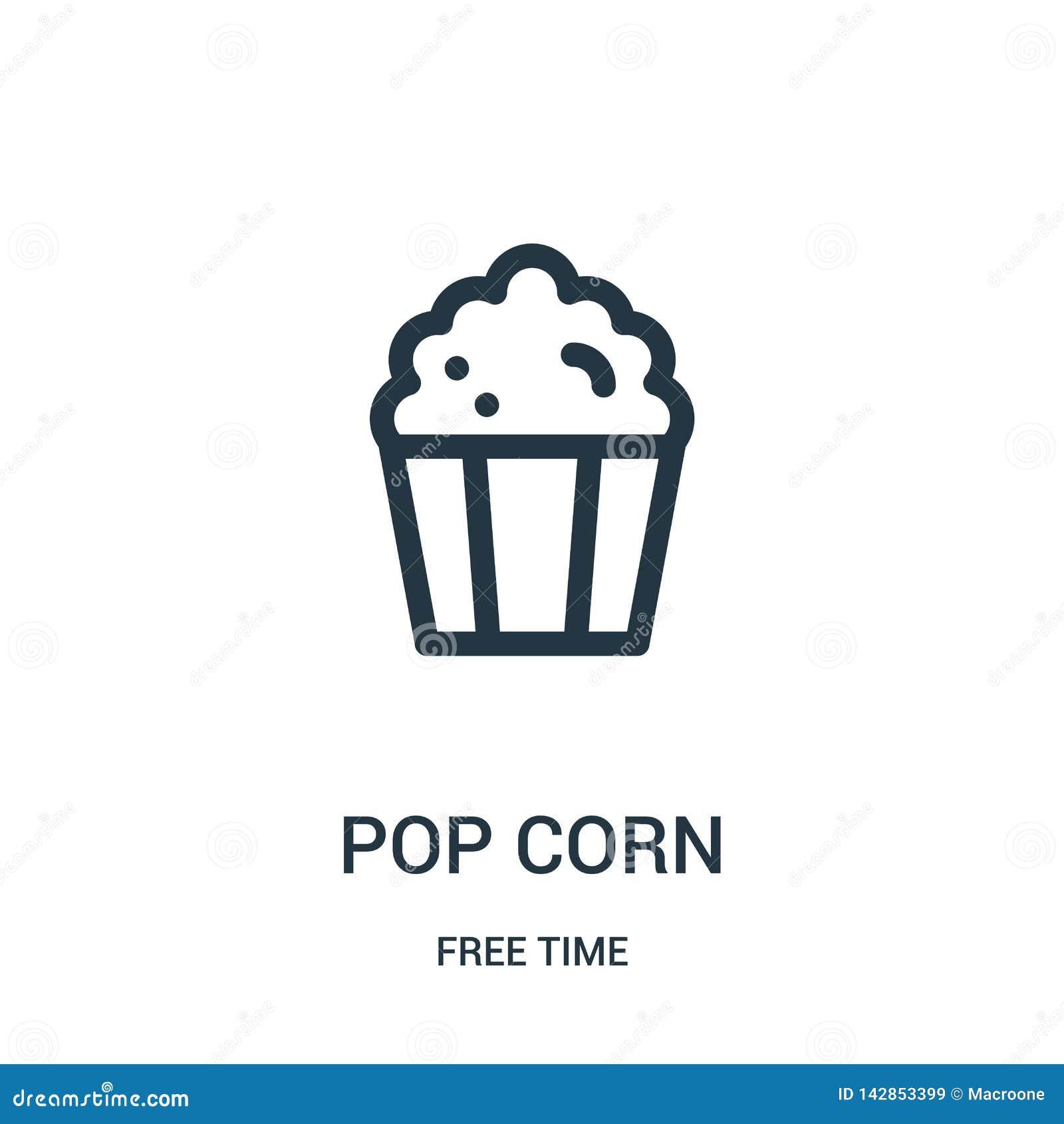 Vettore dell icona del cereale di schiocco dalla raccolta di tempo libero Linea sottile illustrazione di vettore dell icona del p