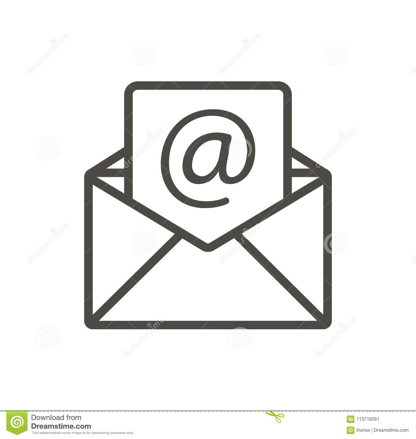 Vettore Dell'icona Del Messaggio Di Posta Elettronica Linea Simbolo Aperto Della Posta Illustrazione Vettoriale - Illustrazione di corrispondenza, minimo: 113716261