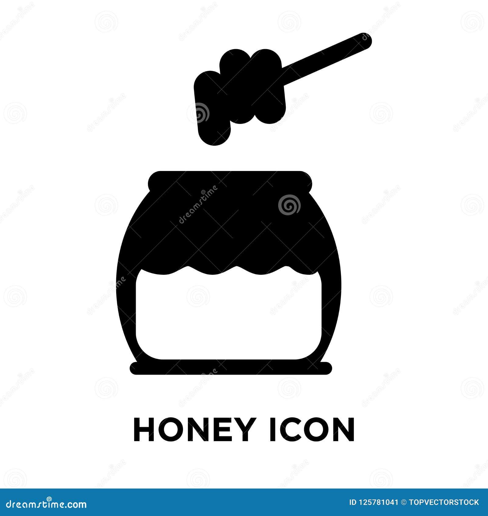 Vettore dell icona del miele isolato su fondo bianco, concetto di logo di