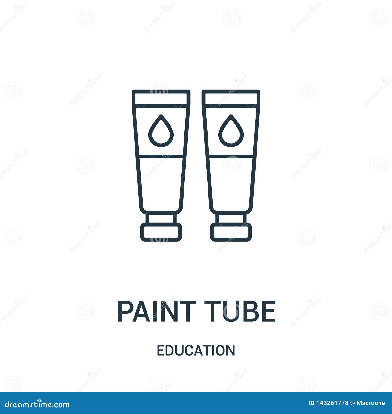 Vettore dell icona del tubo della pittura dalla raccolta di istruzione Linea sottile illustrazione di vettore dell icona del prof