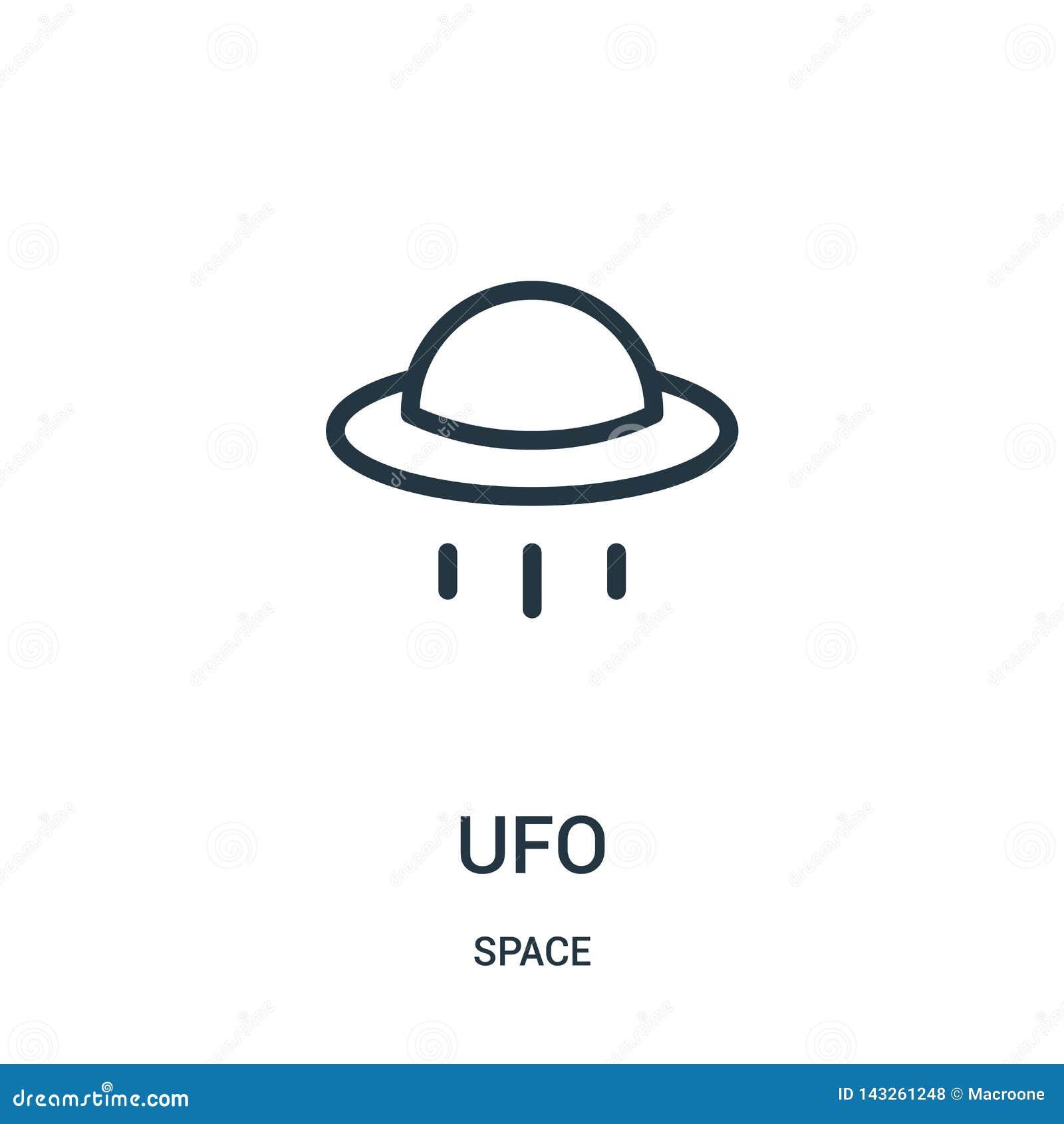Vettore dell icona del UFO dalla raccolta dello spazio Linea sottile illustrazione di vettore dell icona del profilo del UFO