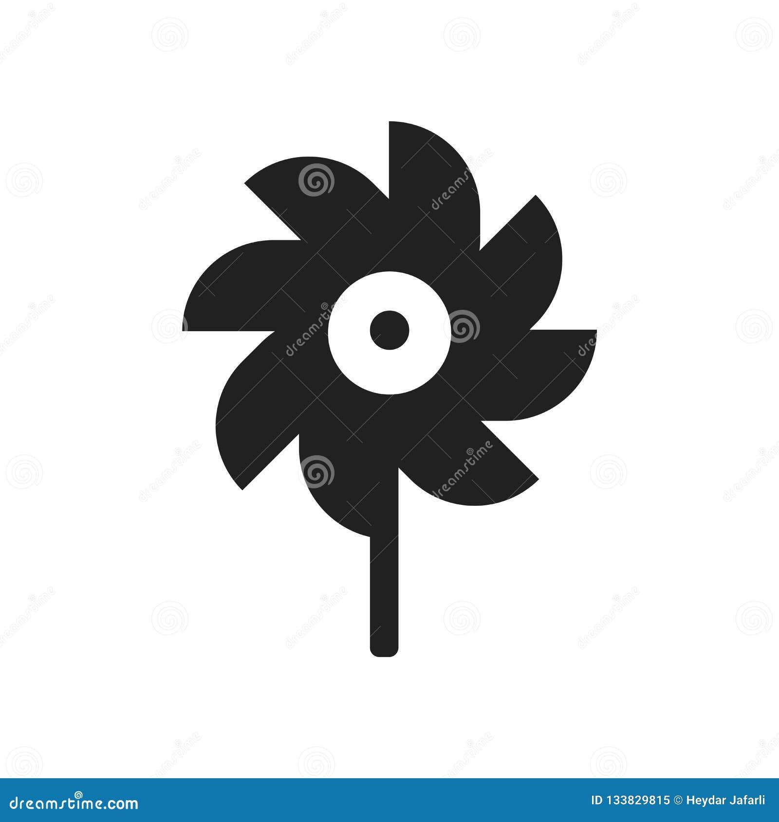 Vettore dell icona della girandola isolato su fondo bianco, segno della girandola