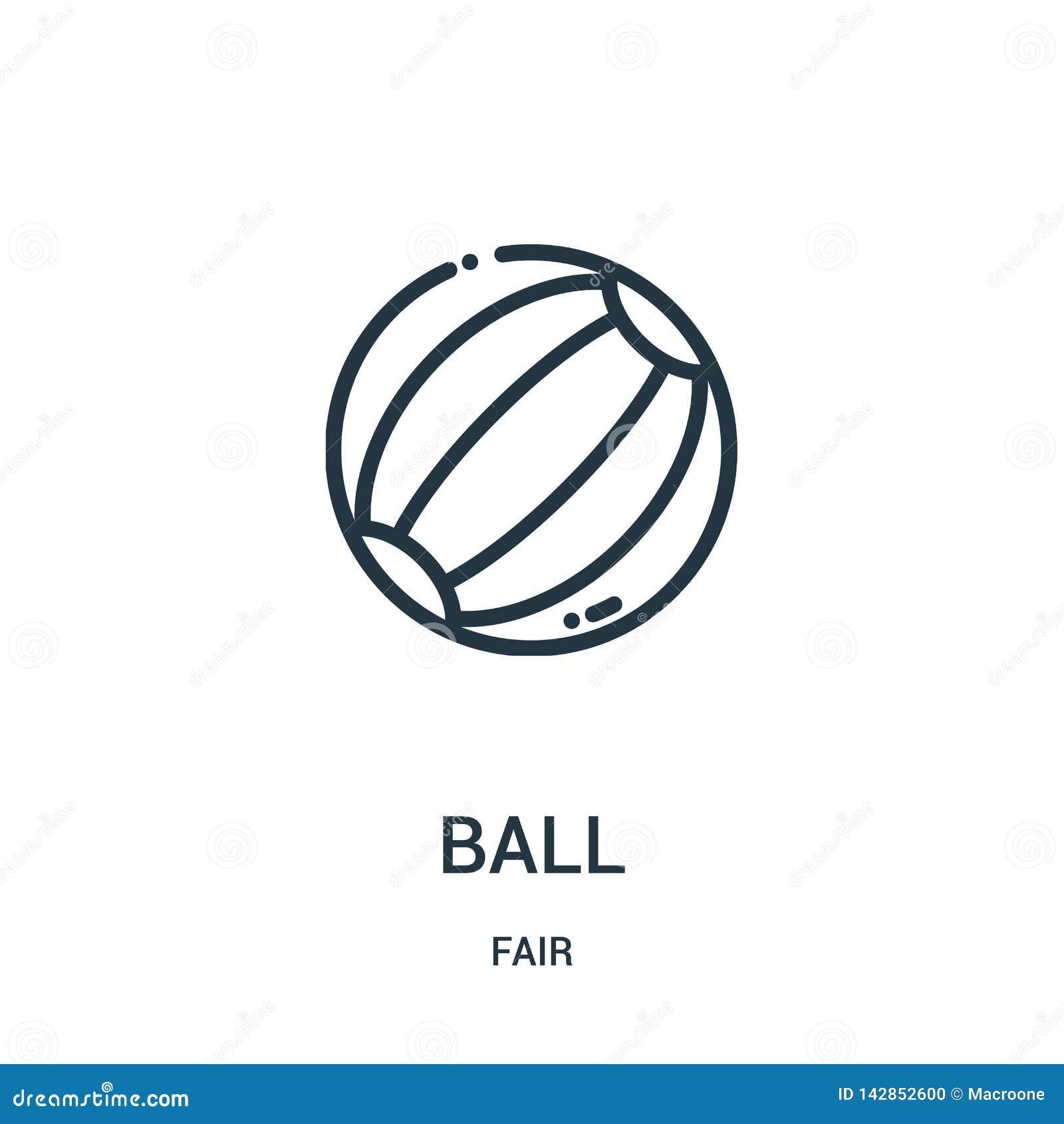 Vettore dell icona della palla dalla raccolta giusta Linea sottile illustrazione di vettore dell icona del profilo della palla Si