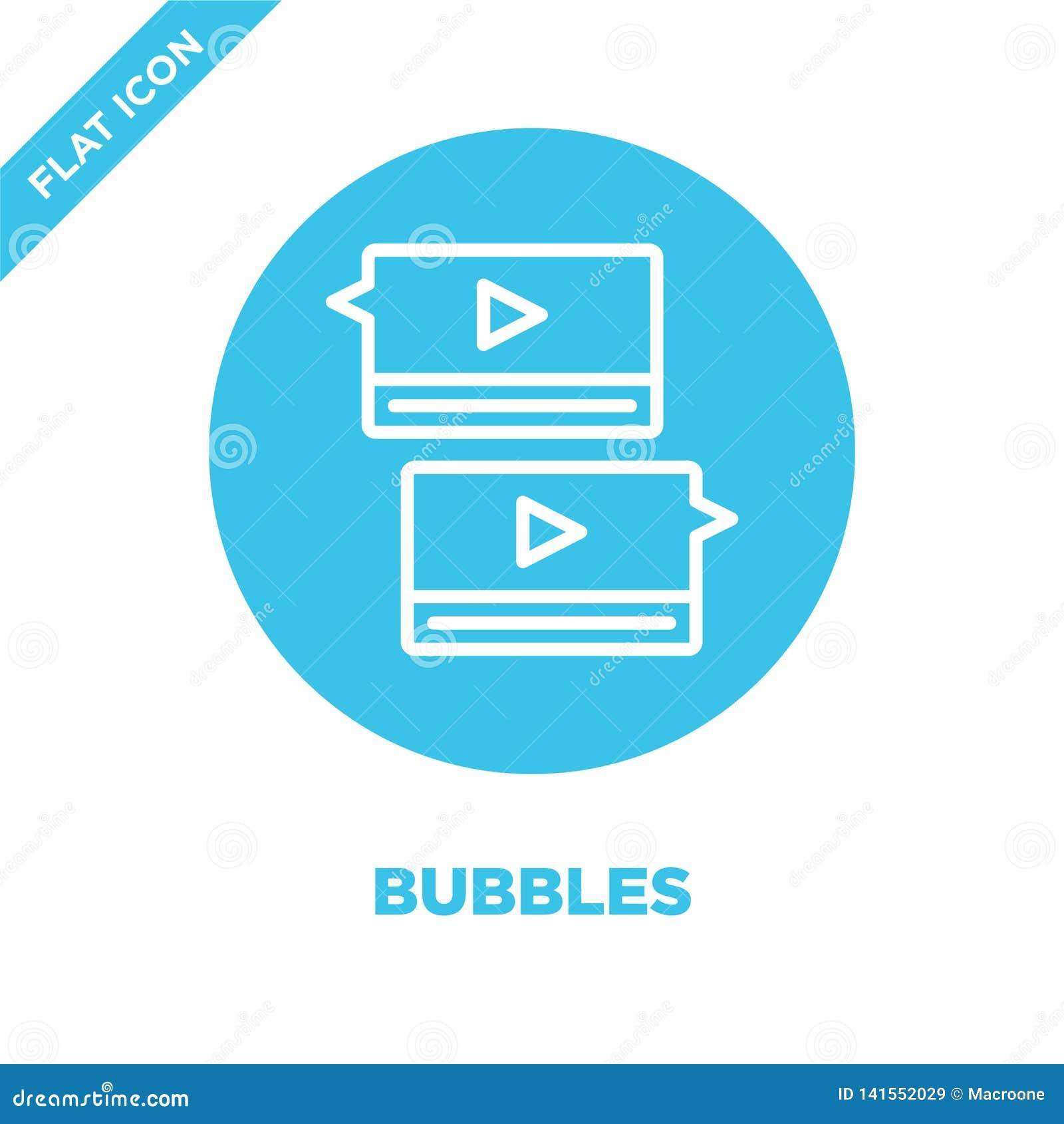 Vettore dell icona delle bolle Linea sottile illustrazione di vettore dell icona del profilo delle bolle simbolo delle bolle per