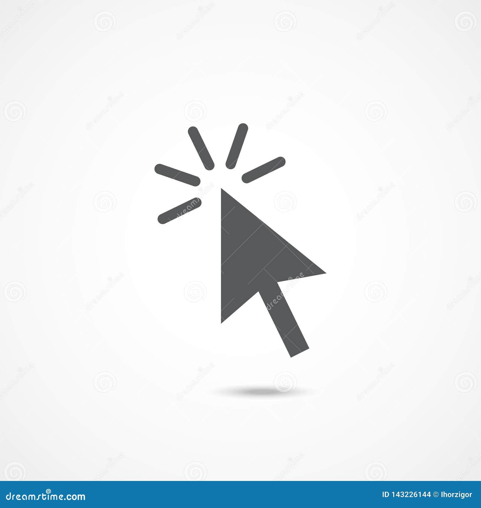 Vettore dell icona di clic