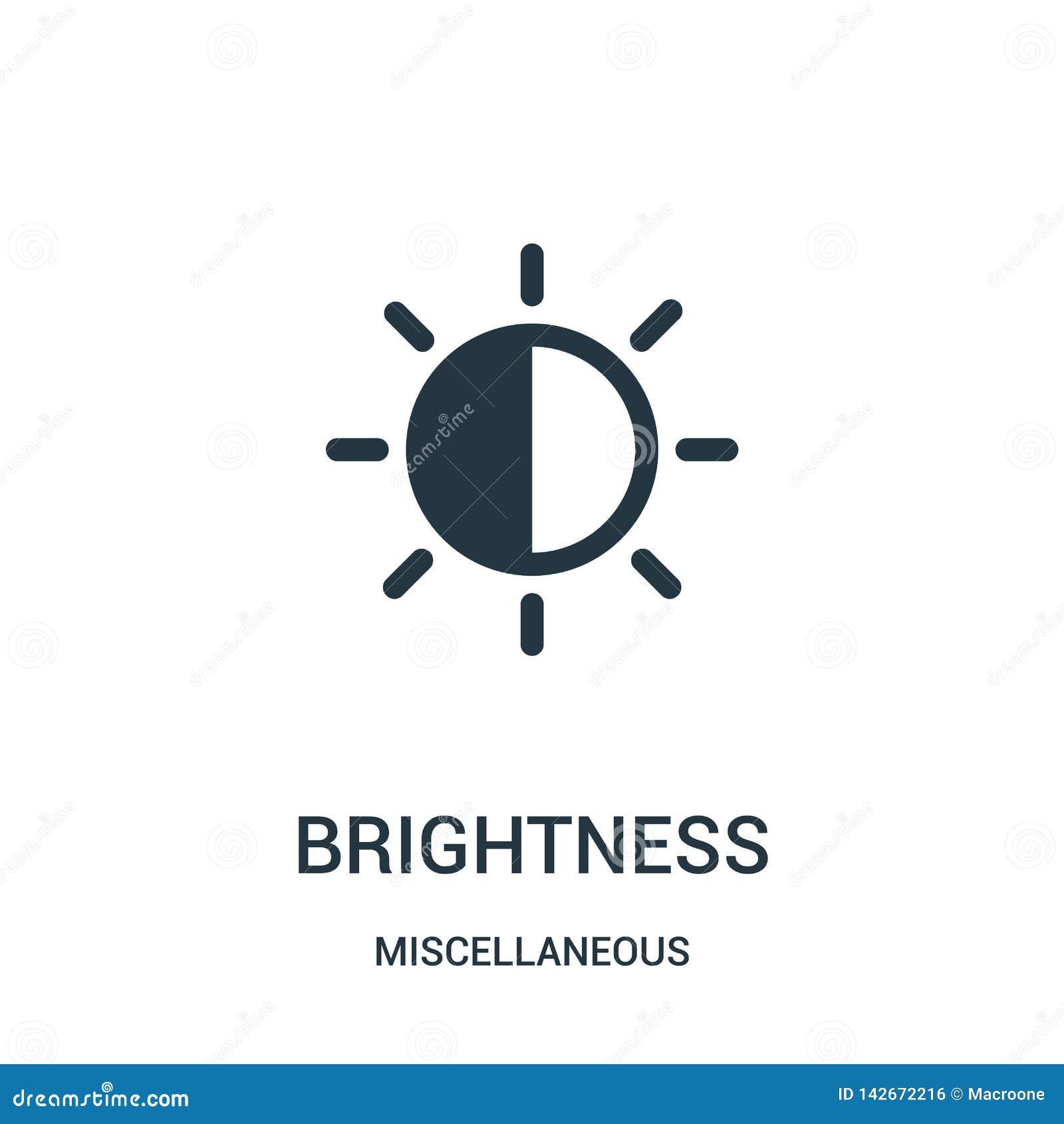 Vettore dell icona di luminosità dalla raccolta varia Linea sottile illustrazione di vettore dell icona del profilo di luminosità